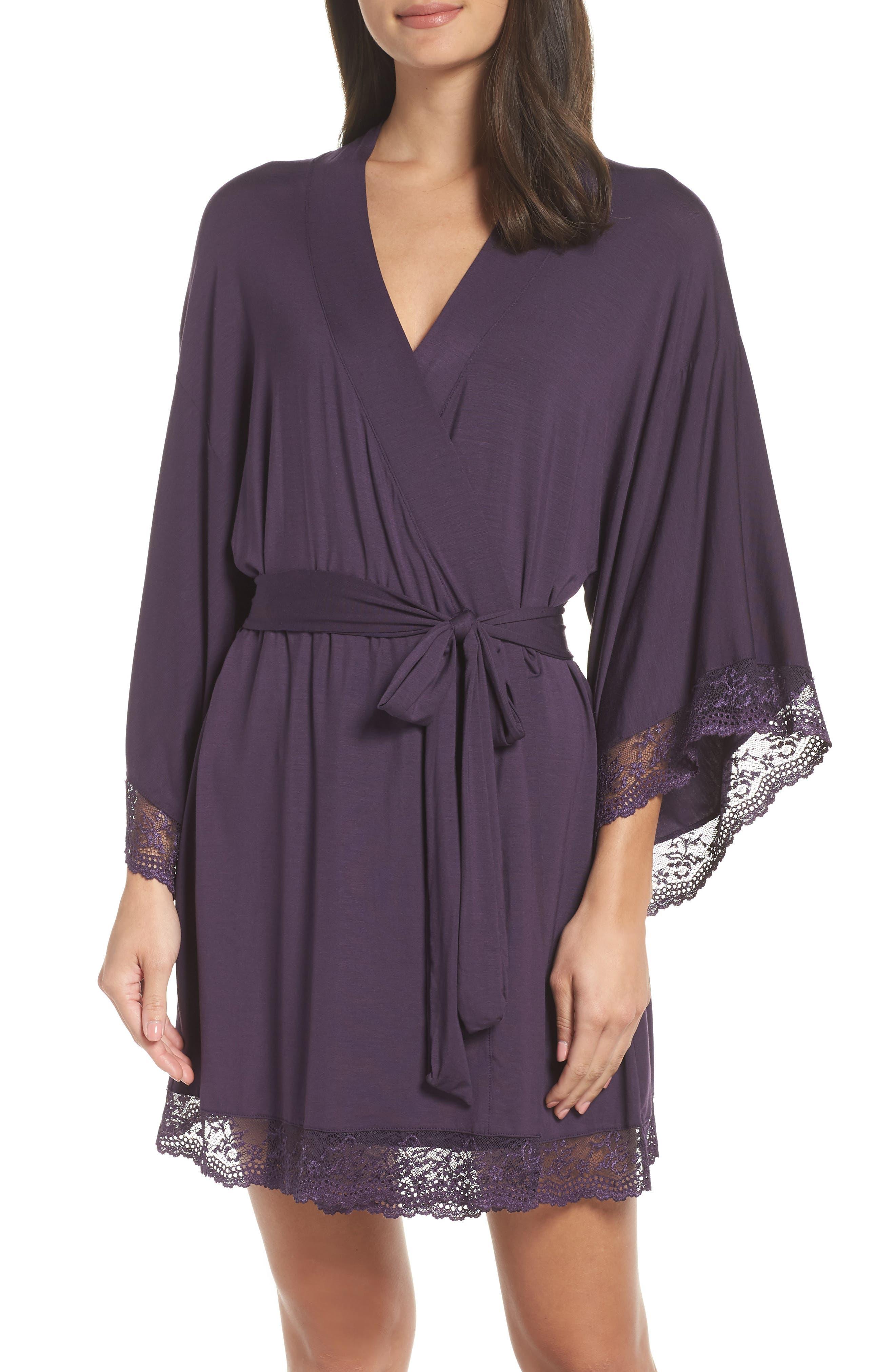 EBERJEY,                             'Colette' Kimono Robe,                             Main thumbnail 1, color,                             MYSTERIOSO