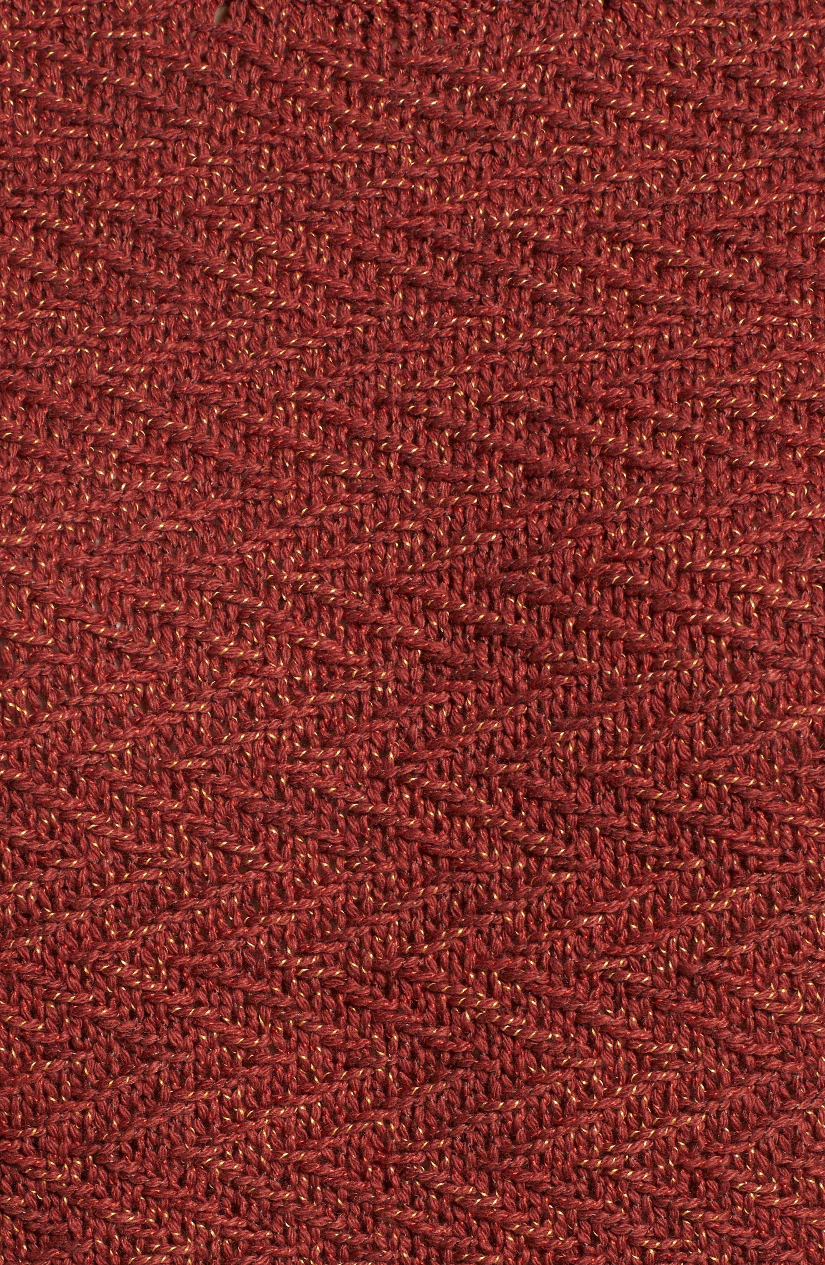 Zigged Sweater,                             Alternate thumbnail 5, color,                             HENNA