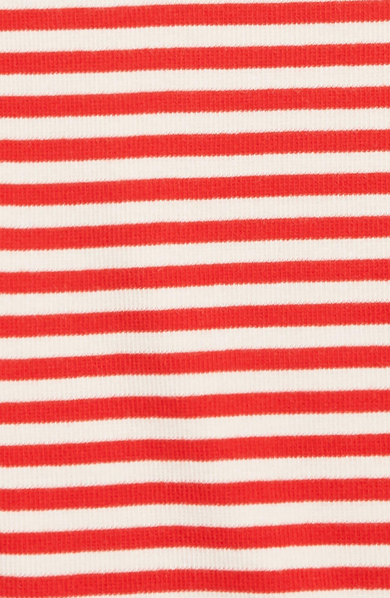 Rib Knit Top,                             Alternate thumbnail 2, color,                             RED PEPPER STRIPE