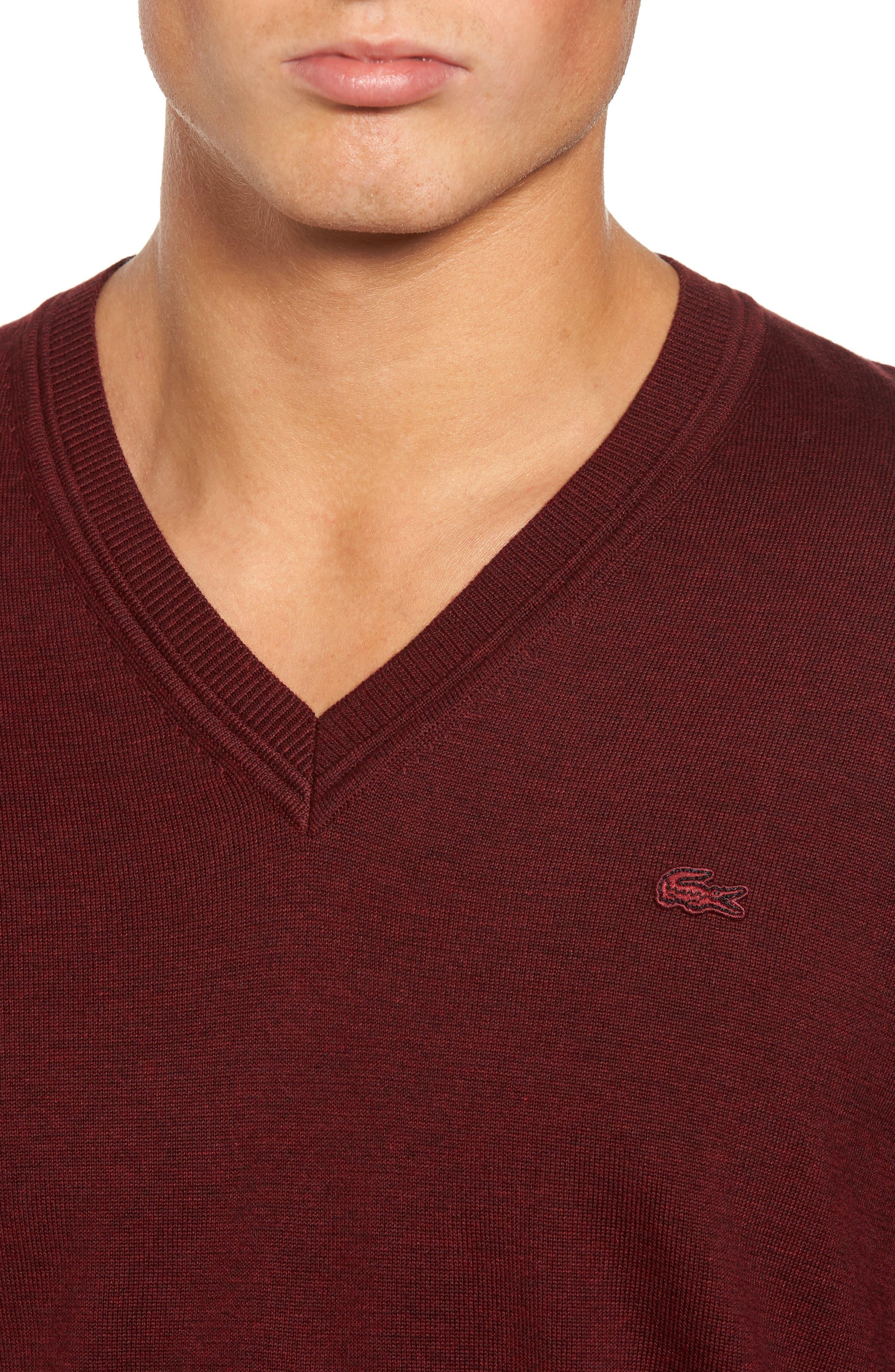 Cotton Jersey V-Neck Sweater,                             Alternate thumbnail 20, color,