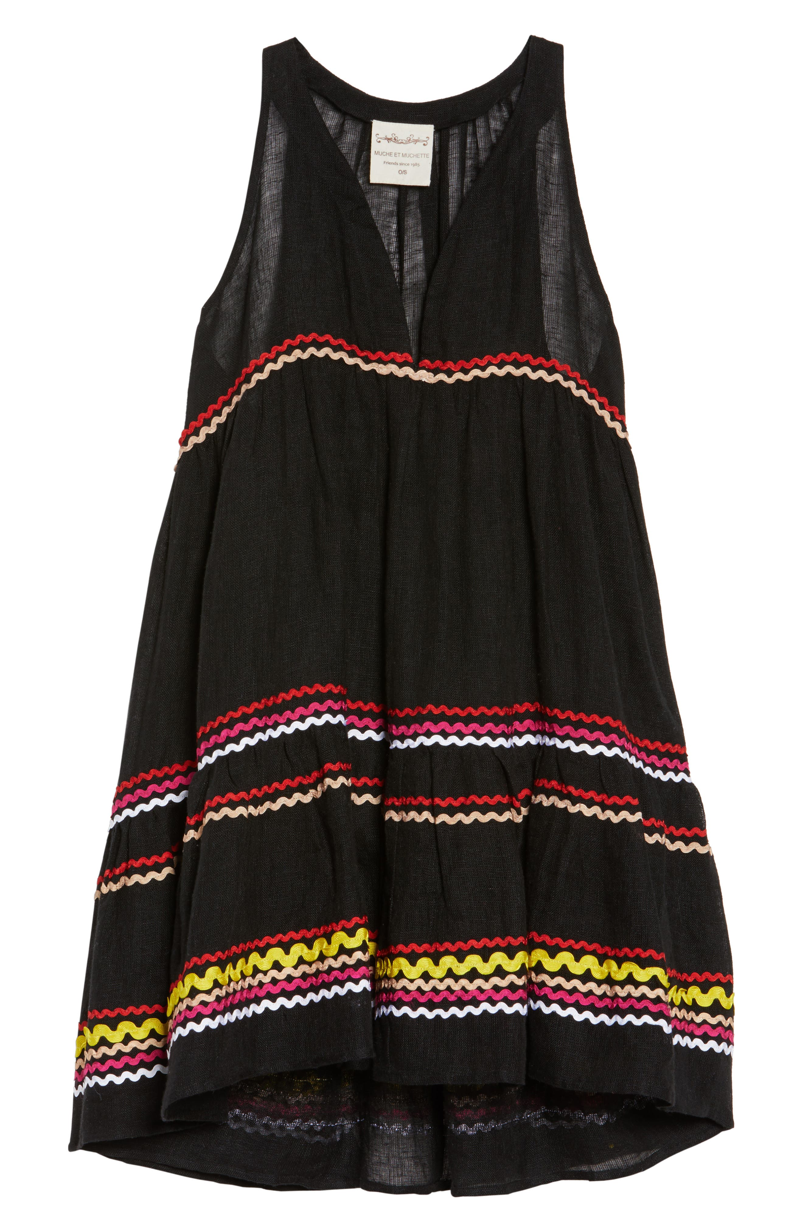 Mira Cover-Up Dress,                             Alternate thumbnail 6, color,                             001