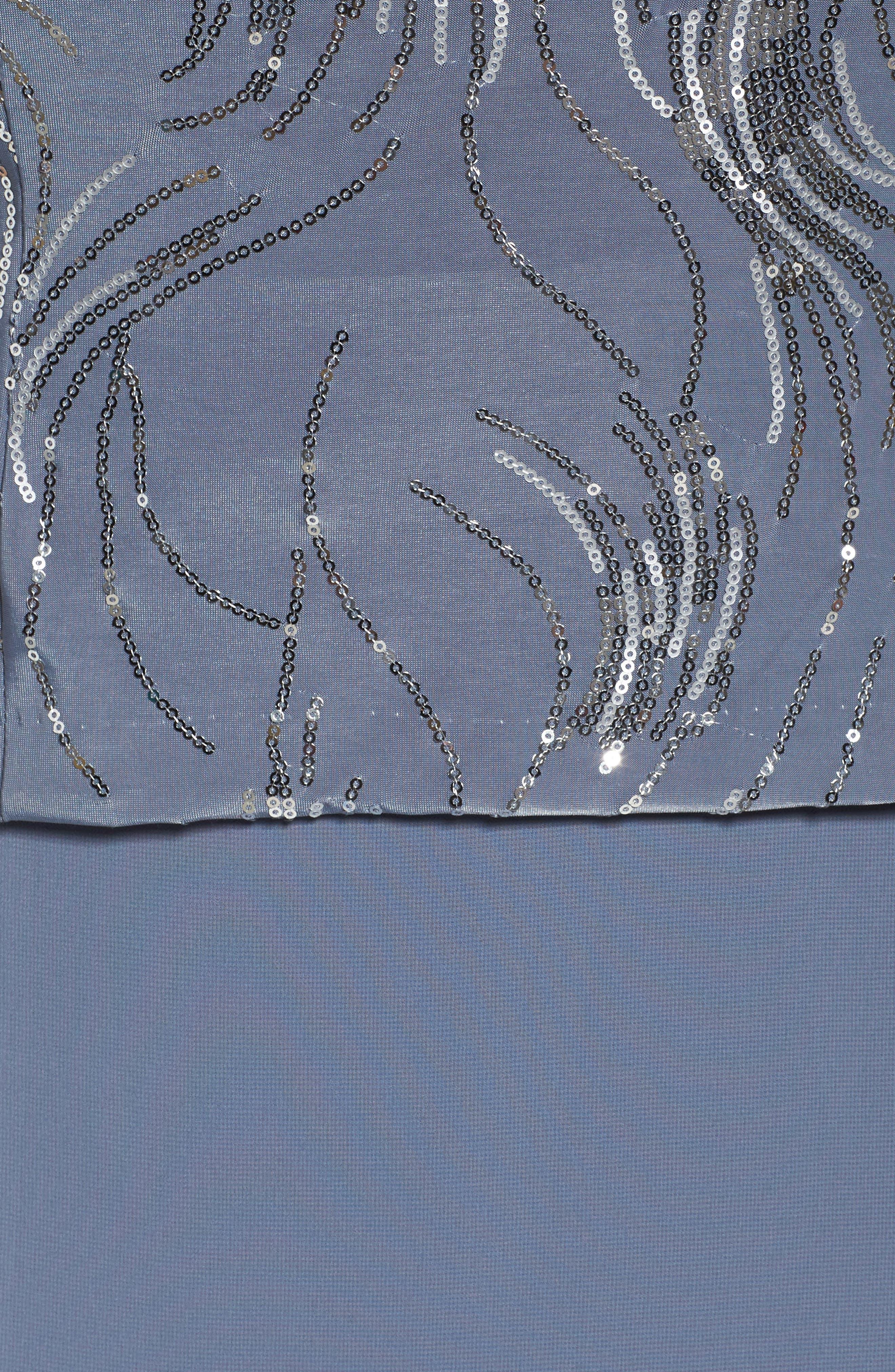 Mock Two-Piece Jacket Dress,                             Alternate thumbnail 5, color,                             451