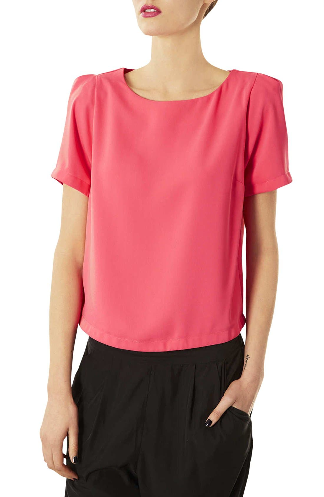 TOPSHOP,                             Tea Blouse,                             Main thumbnail 1, color,                             650