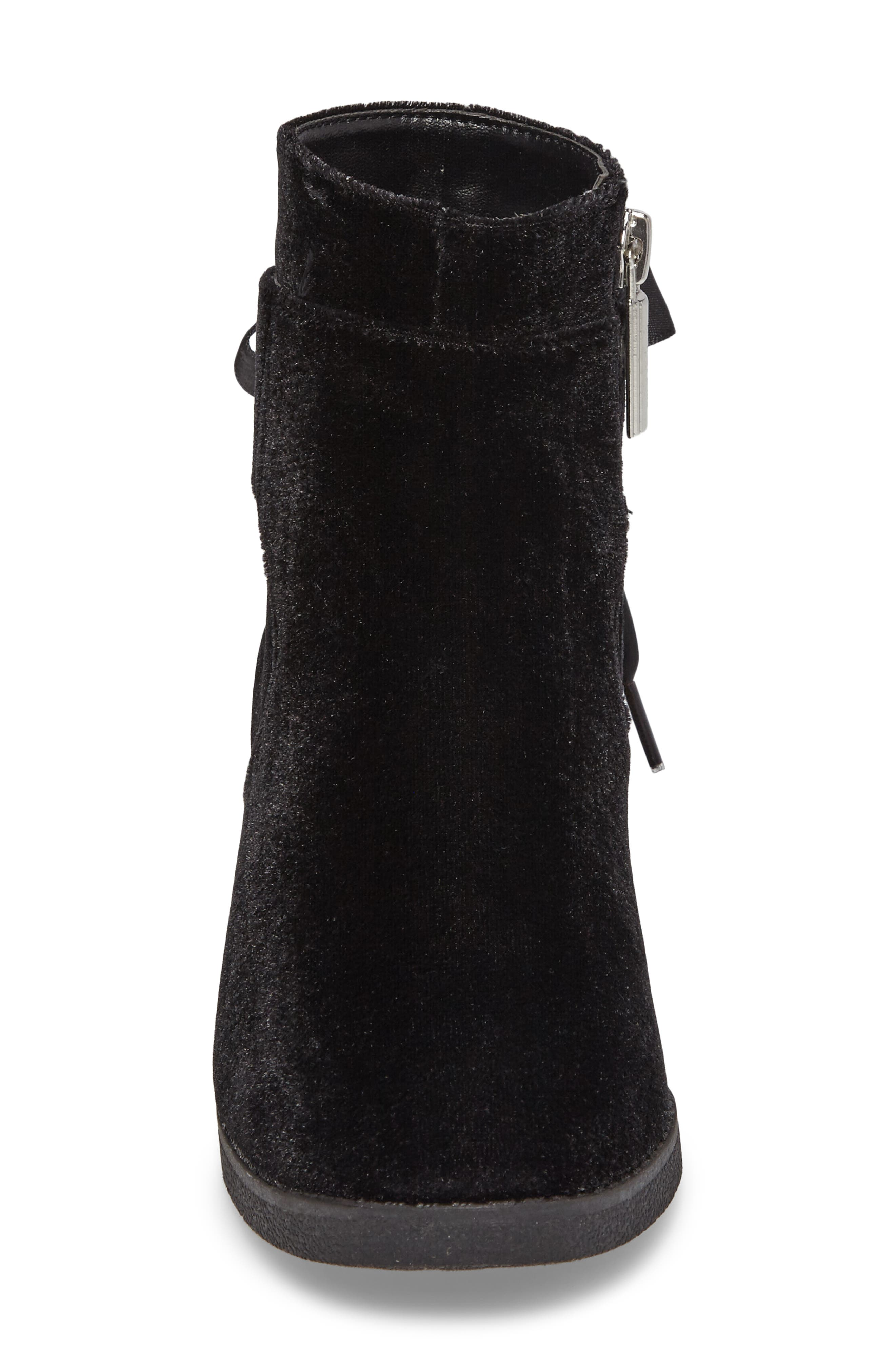 Fawn Doe Velvet Bootie,                             Alternate thumbnail 4, color,                             001