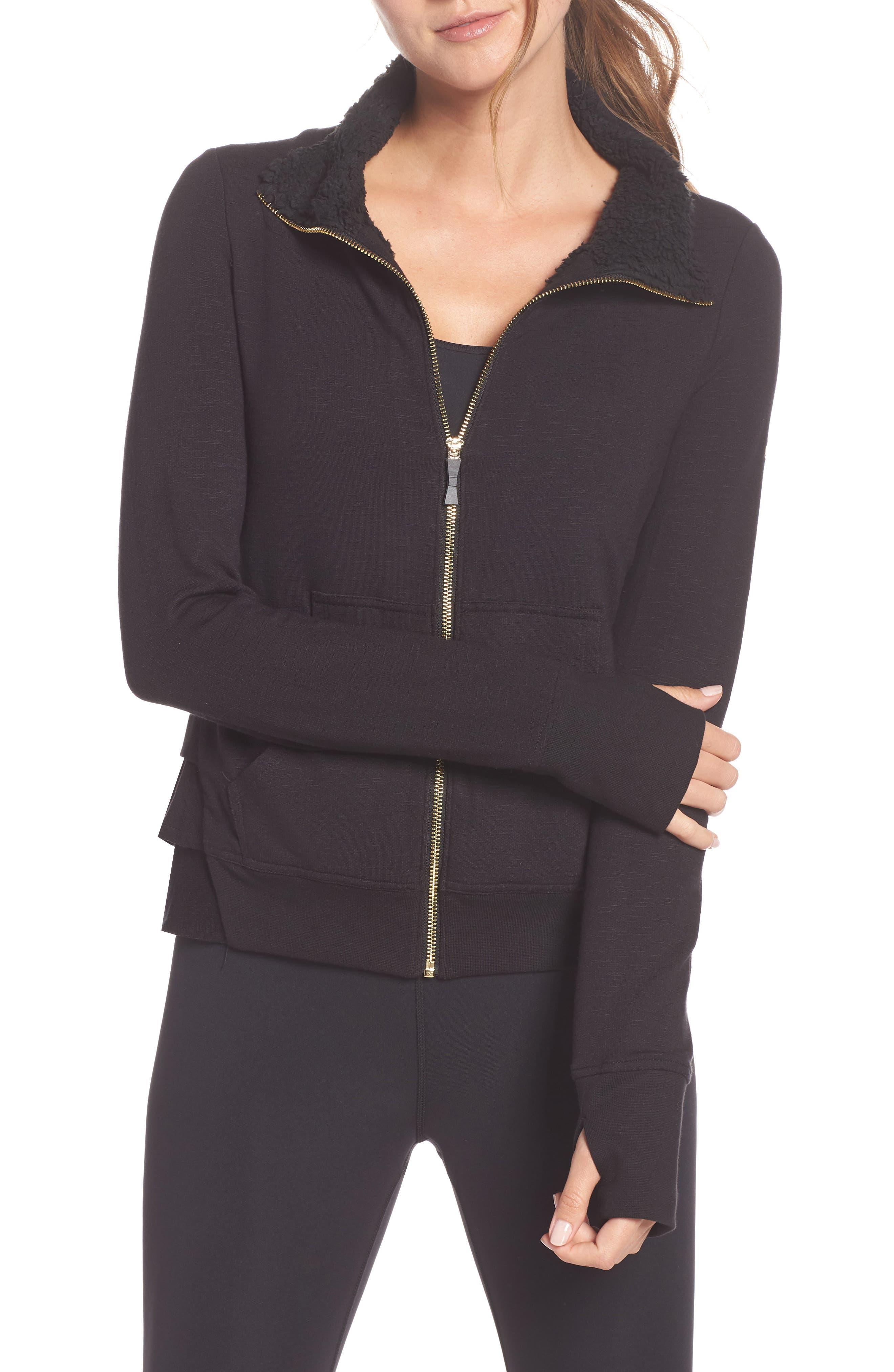 Kate Spade New York Fleece Lined Jacket, Black