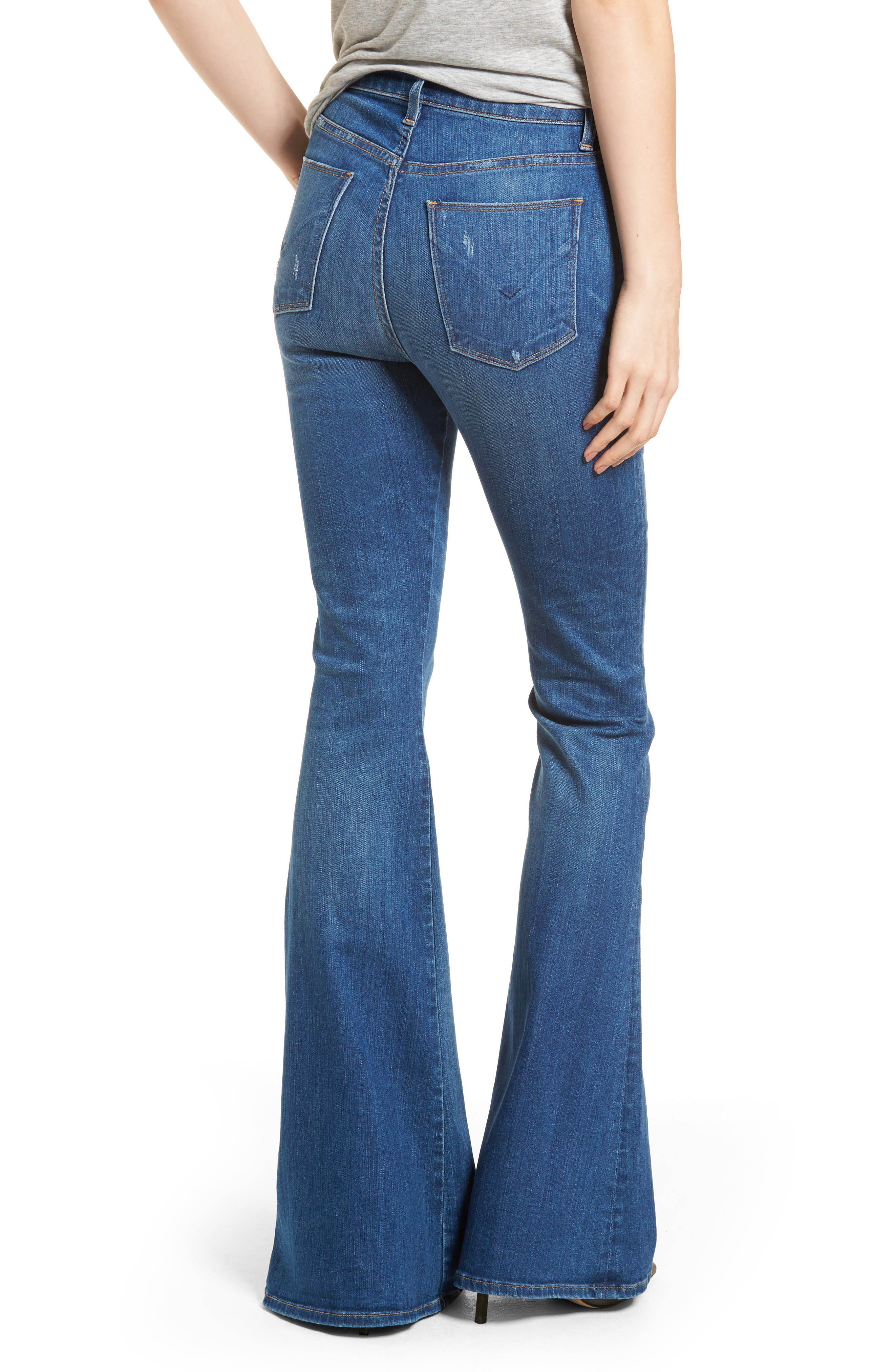 Holly High Waist Flare Jeans,                             Alternate thumbnail 2, color,                             401