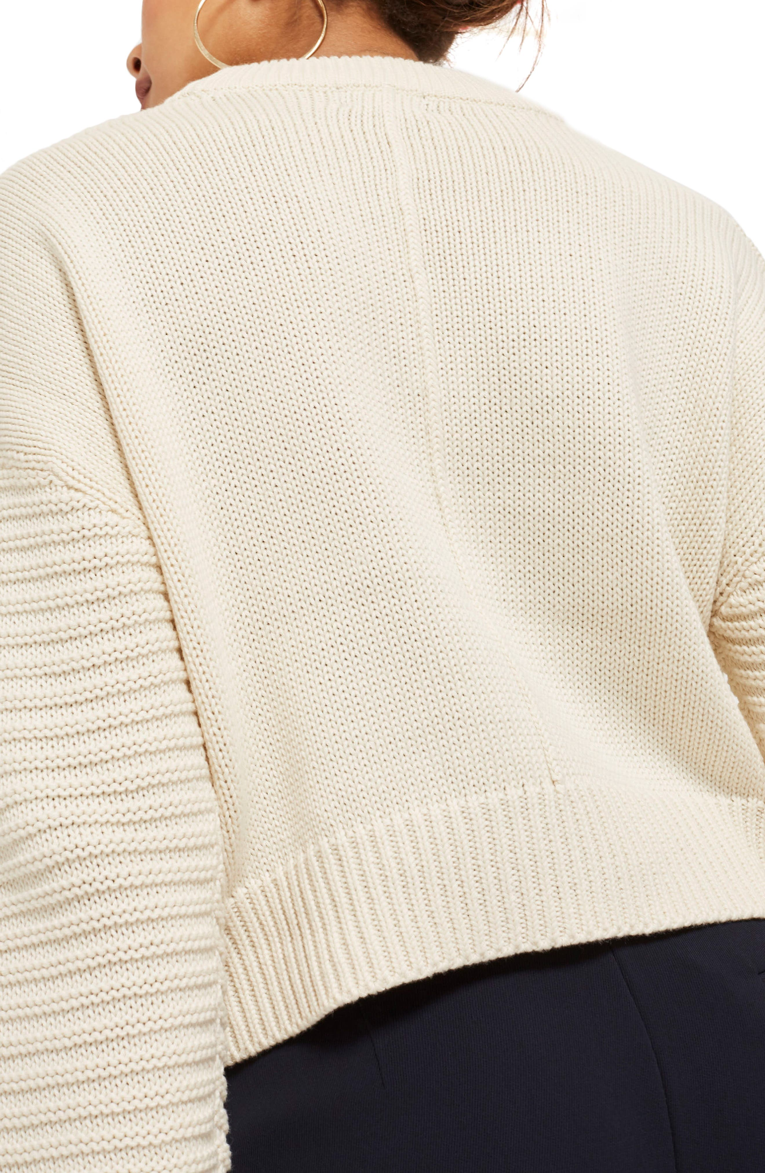 Stitch Sleeve Sweater,                             Alternate thumbnail 2, color,