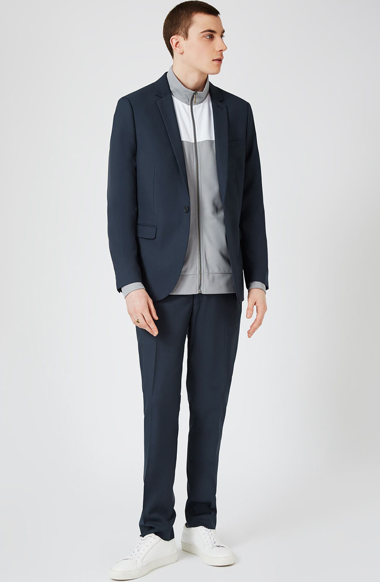 Skinny Fit Suit Trousers,                             Alternate thumbnail 5, color,                             420
