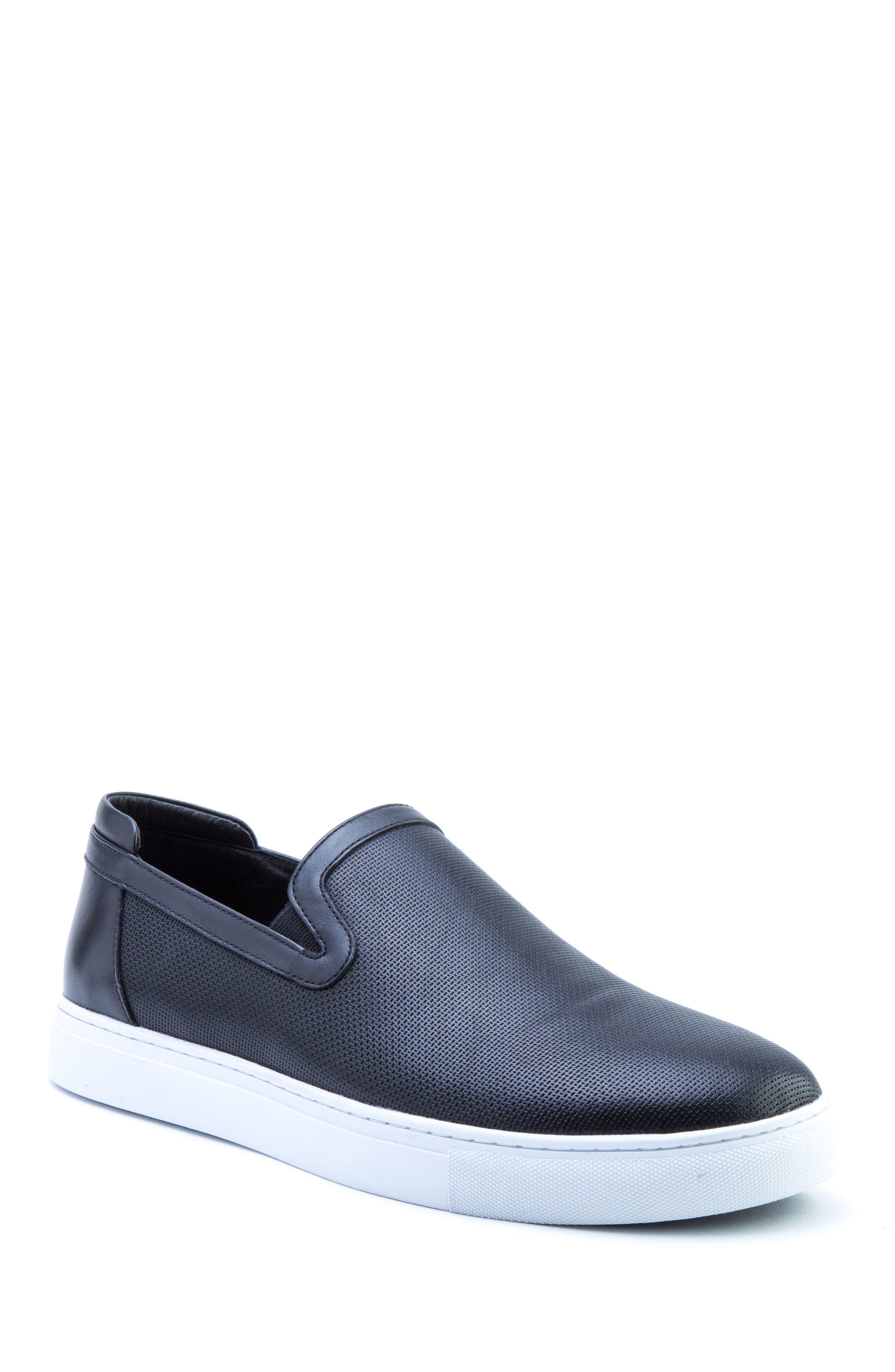 Grant Sneaker,                         Main,                         color, BLACK LEATHER