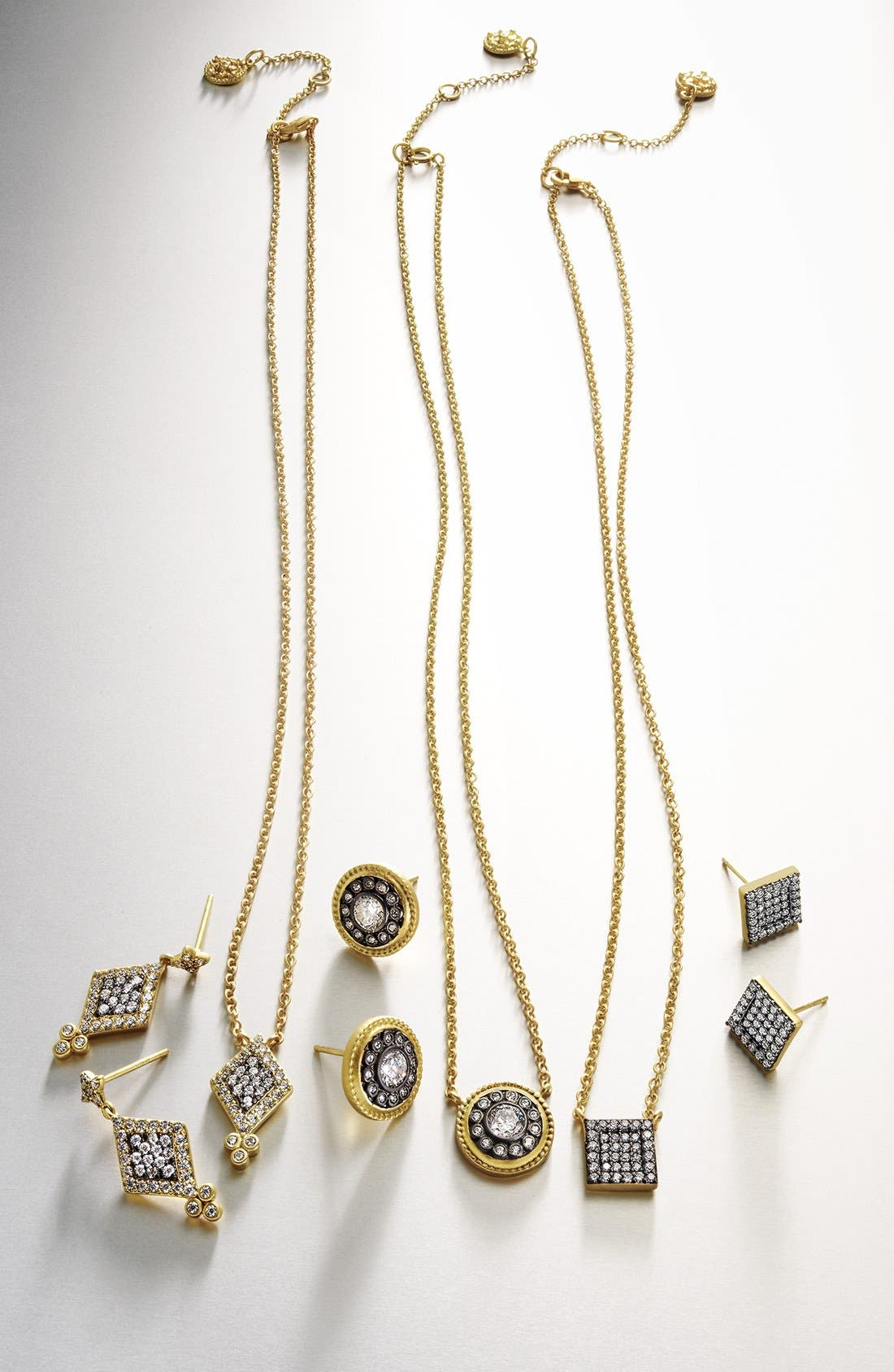 'Hamptons' Nautical Button Pendant Necklace,                             Alternate thumbnail 5, color,                             GOLD/ GUNMETAL