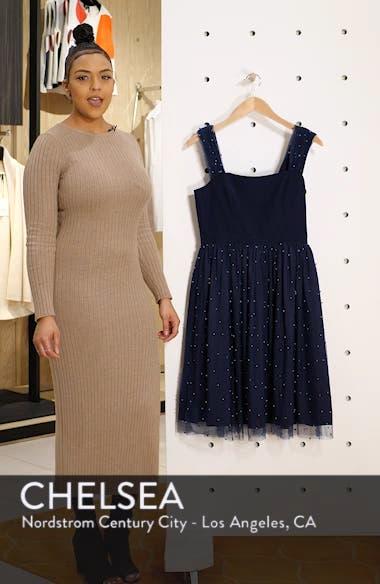 Delores Vintage Pearl Mesh & Crepe Dress, sales video thumbnail