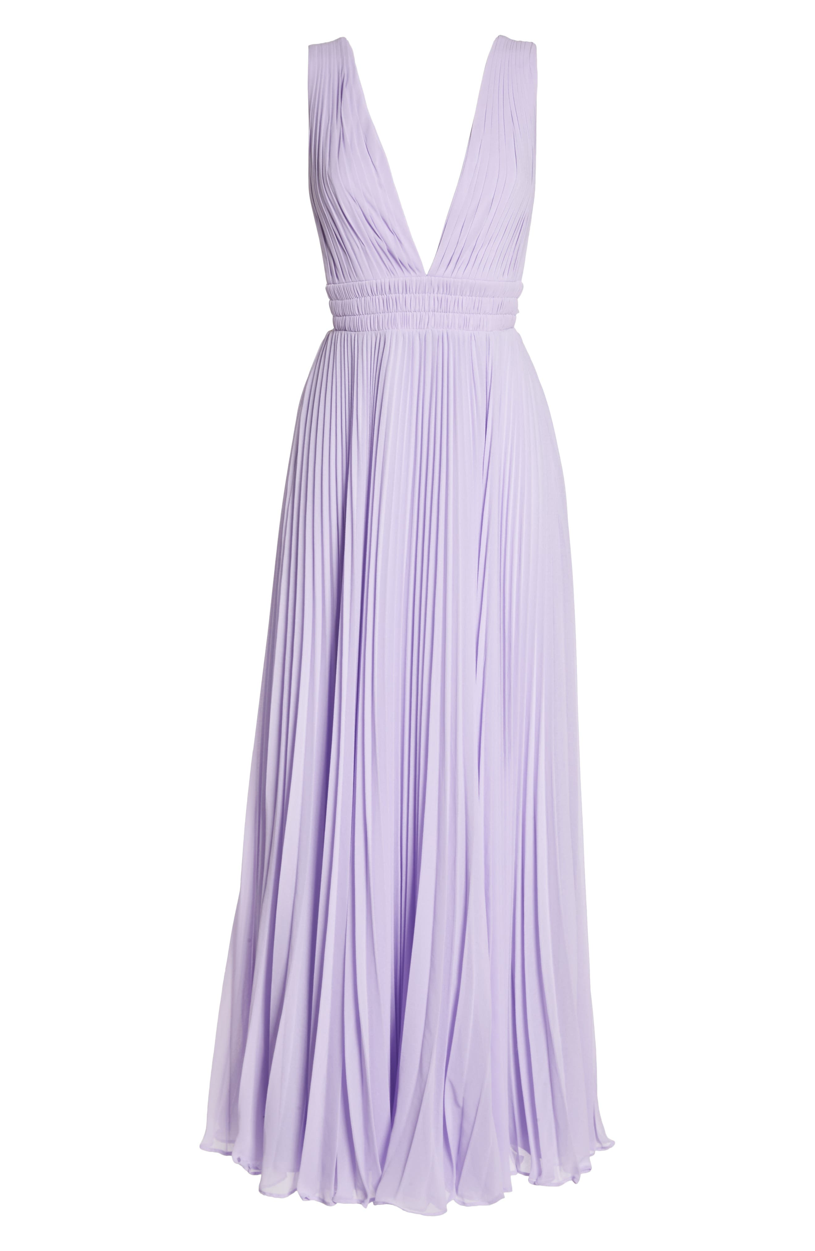 Fame & Partners The Peyton Pleated Gown,                             Alternate thumbnail 7, color,                             LILAC