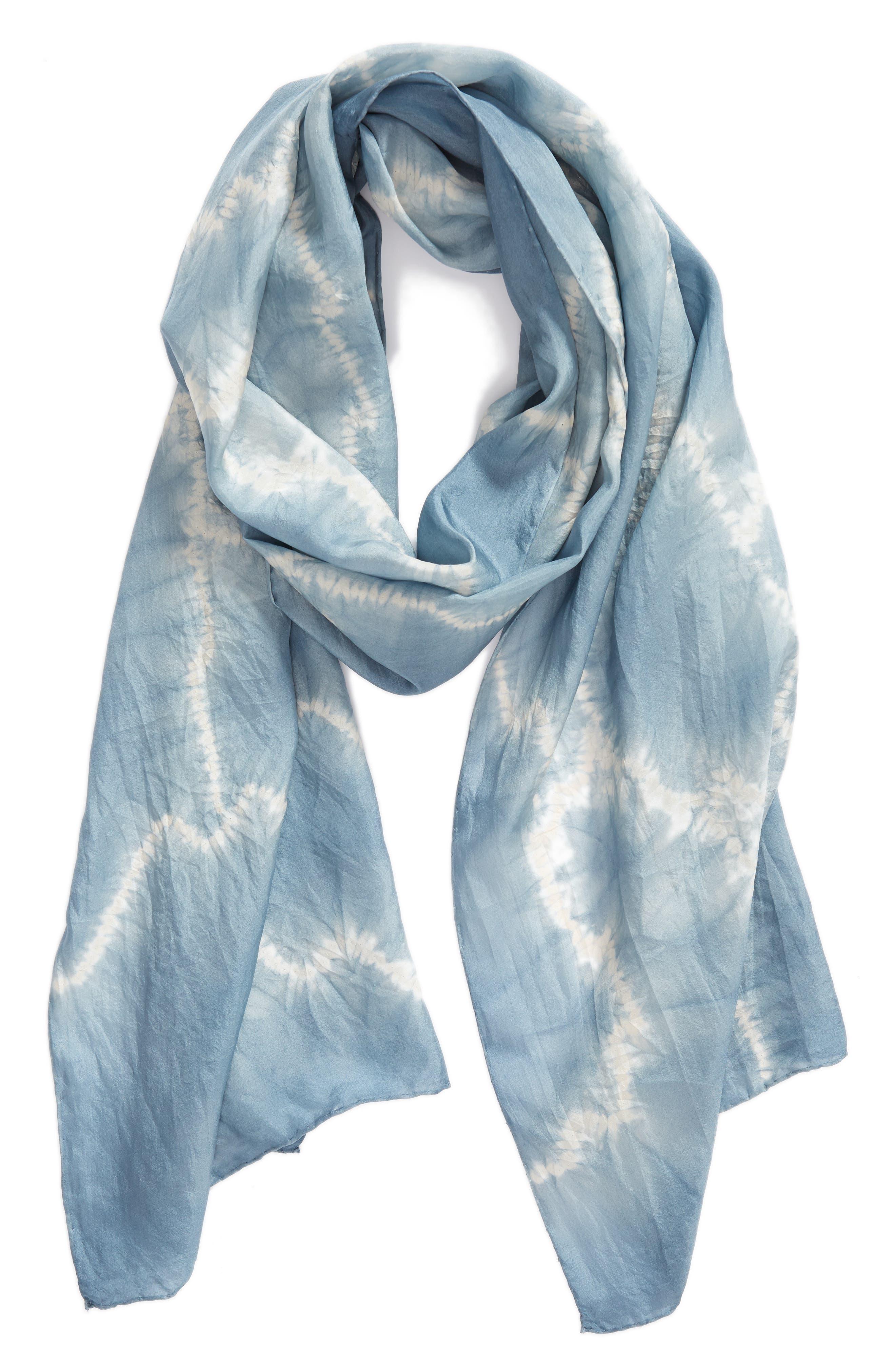 Tie Dye Silk Scarf,                             Alternate thumbnail 2, color,                             454