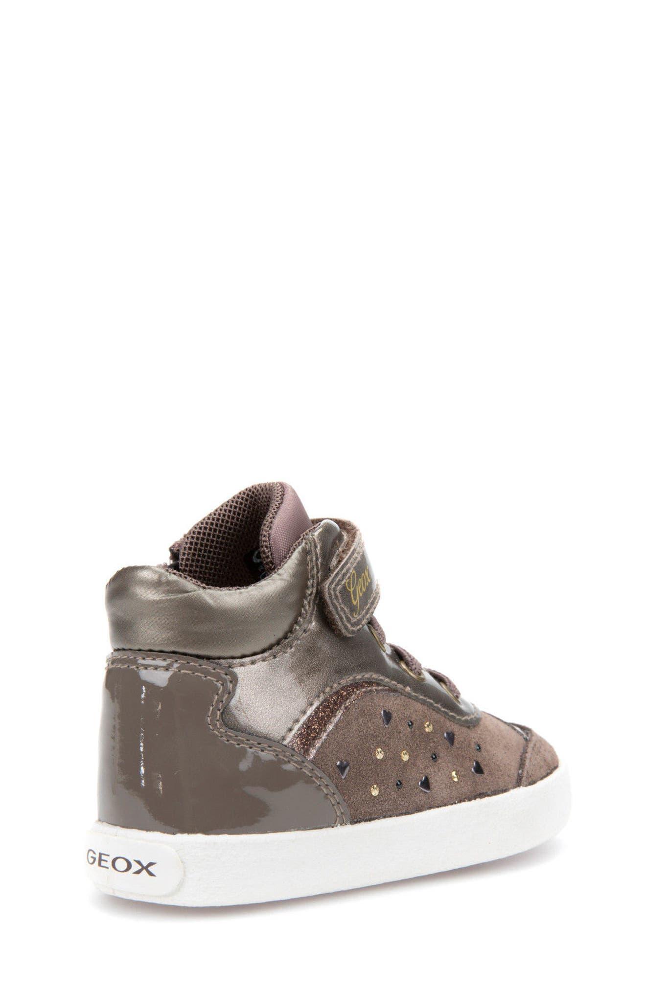 Kiwi Girl Studded High Top Sneaker,                             Alternate thumbnail 6, color,