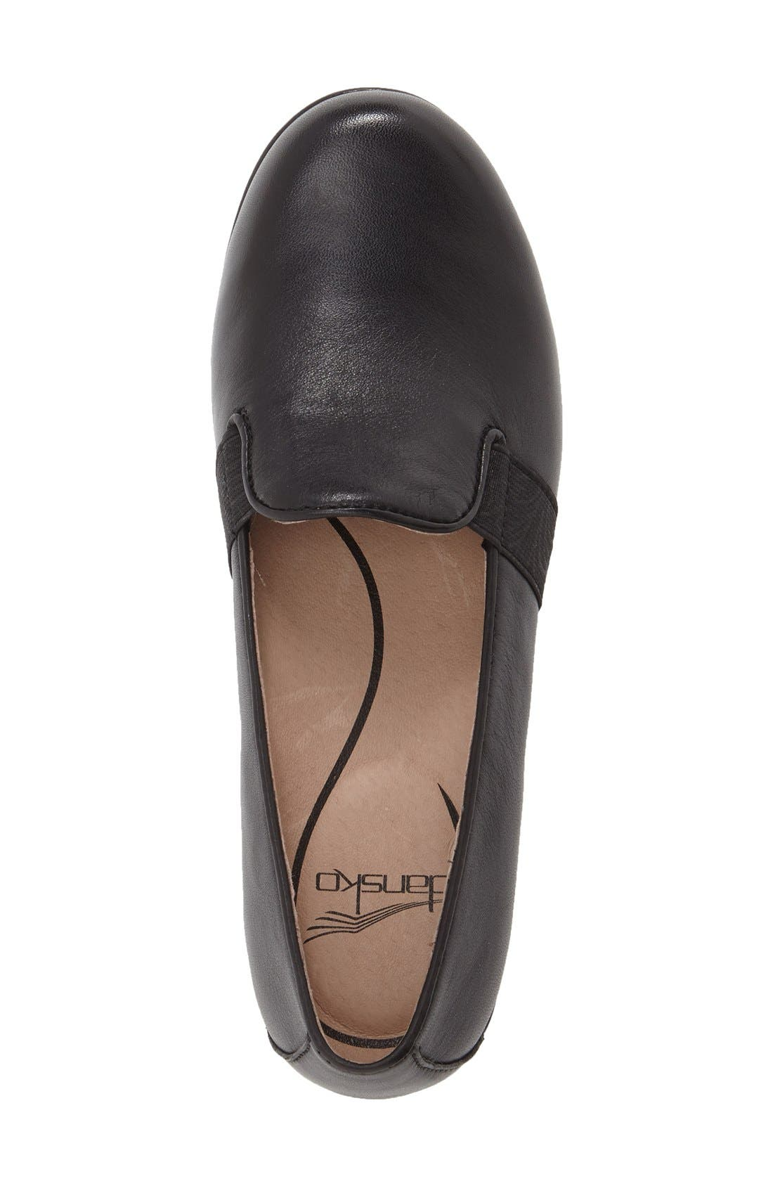 'Addy' Loafer,                             Alternate thumbnail 3, color,                             BLACK NAPPA LEATHER
