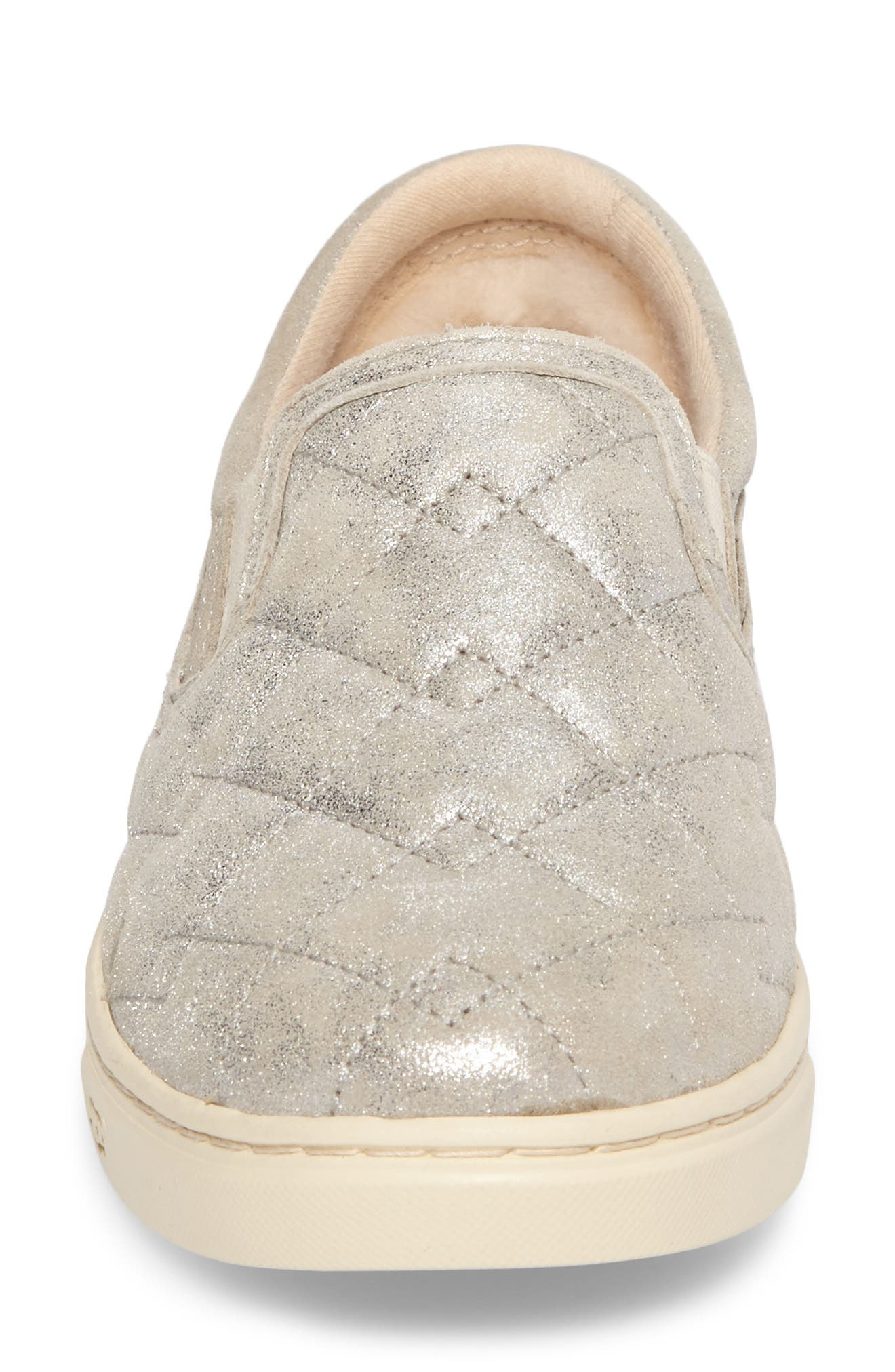 Fierce Stardust Quilted Slip-On Sneaker,                             Alternate thumbnail 4, color,                             040