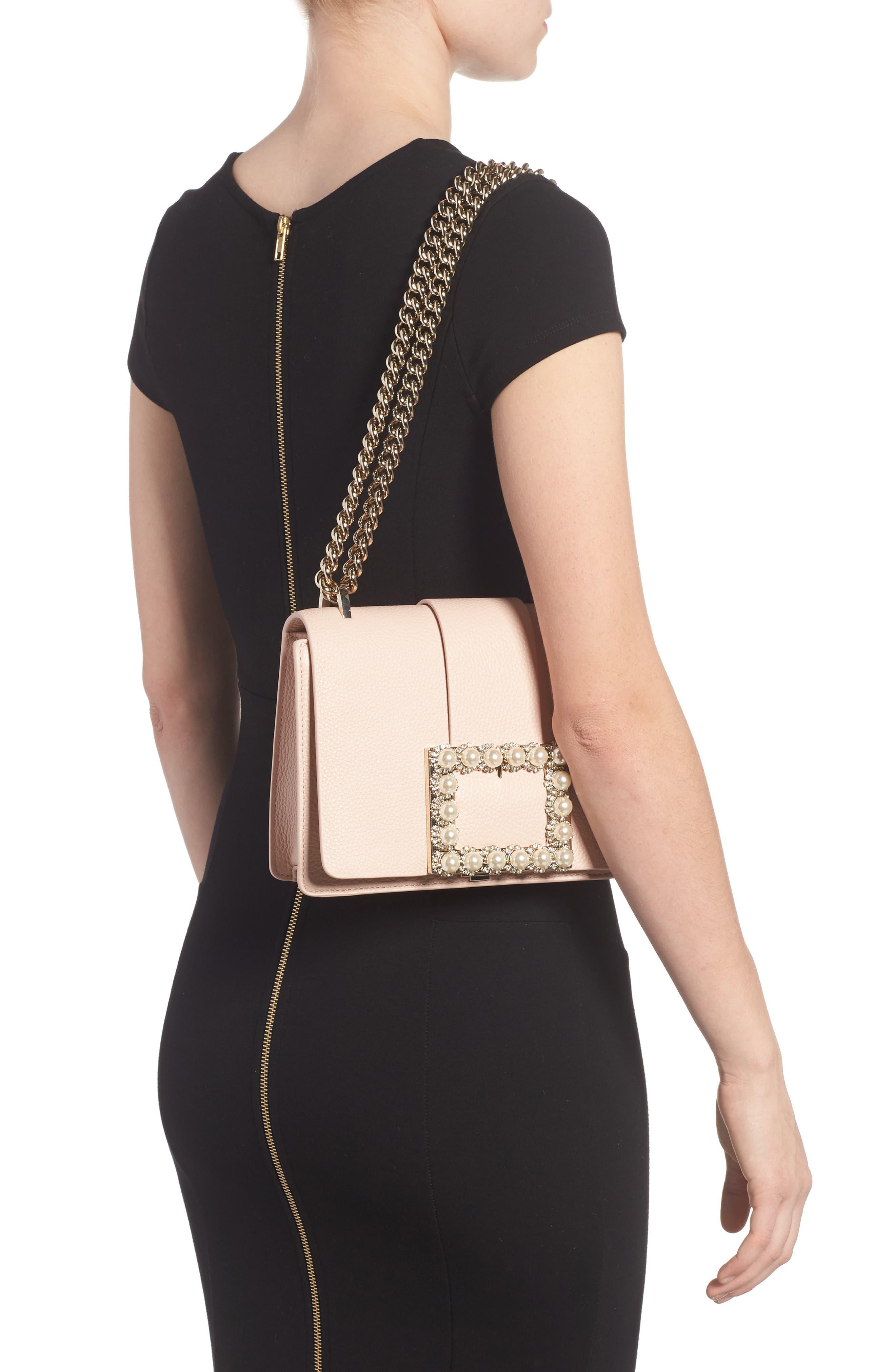 madison knollwood drive - buckle marci leather shoulder bag,                             Alternate thumbnail 4, color,