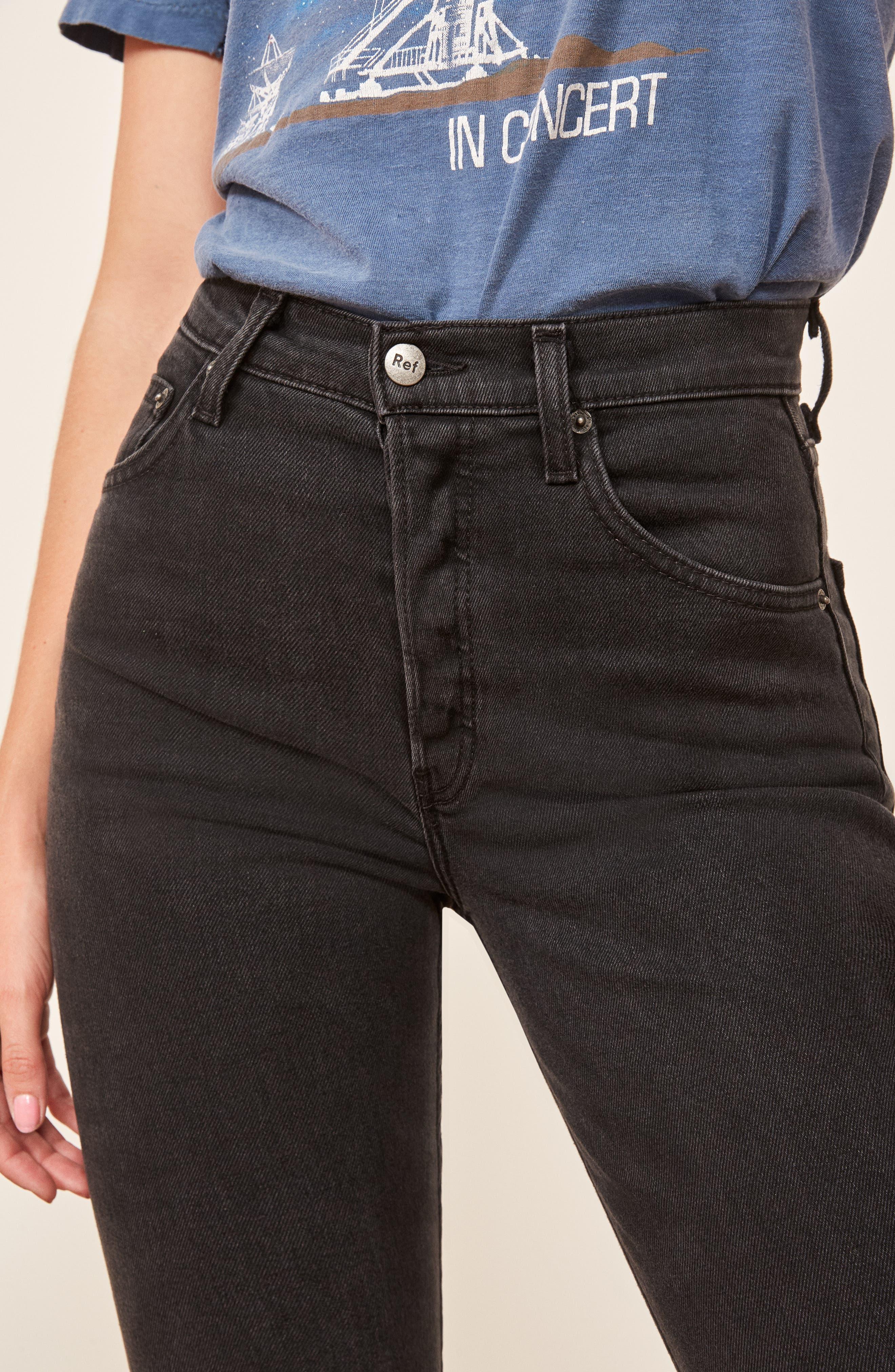 Serena High Waist Skinny Jeans,                             Alternate thumbnail 3, color,                             ARGENTINE