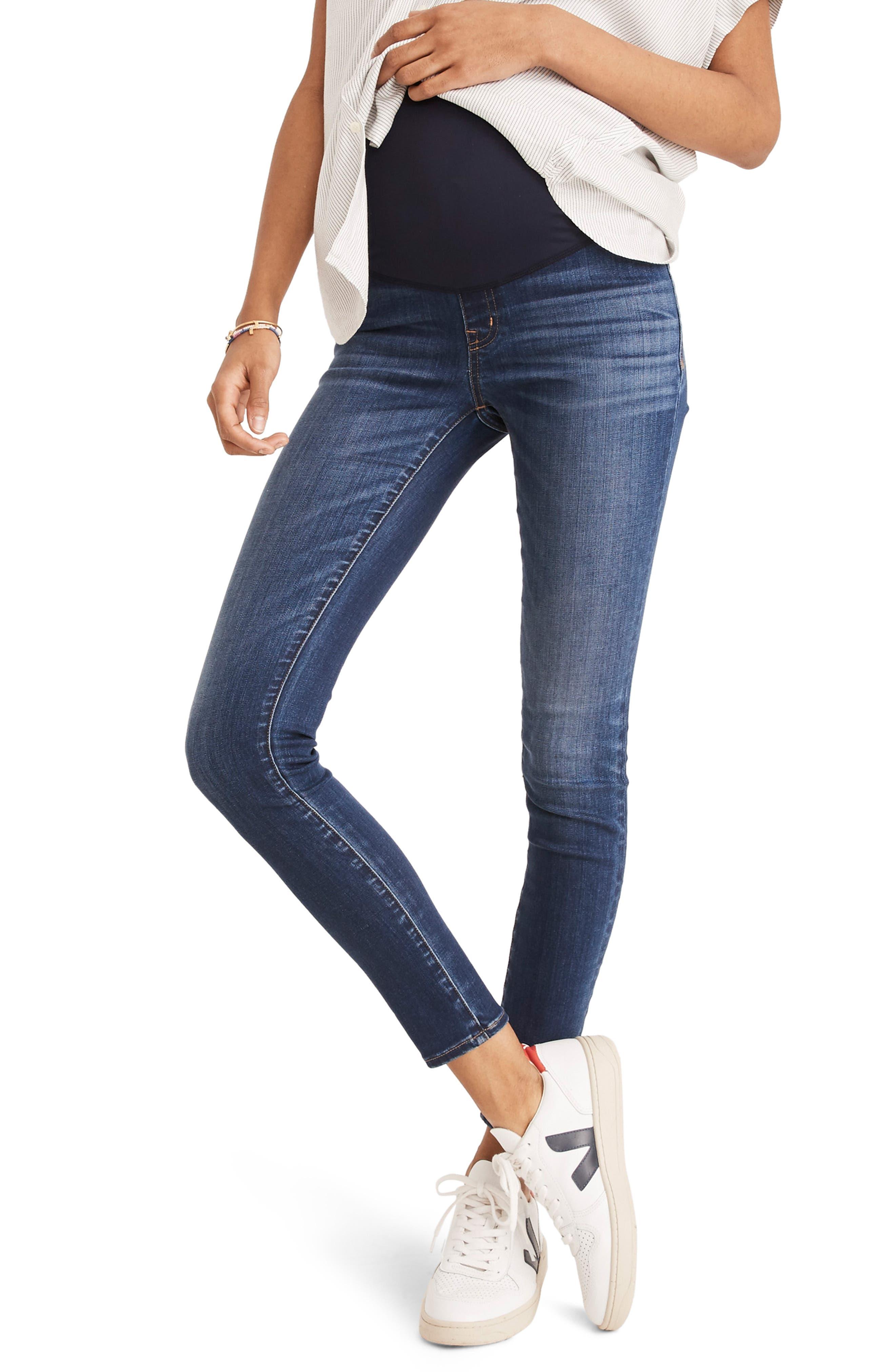Maternity Skinny Jeans,                             Alternate thumbnail 4, color,                             DANNY