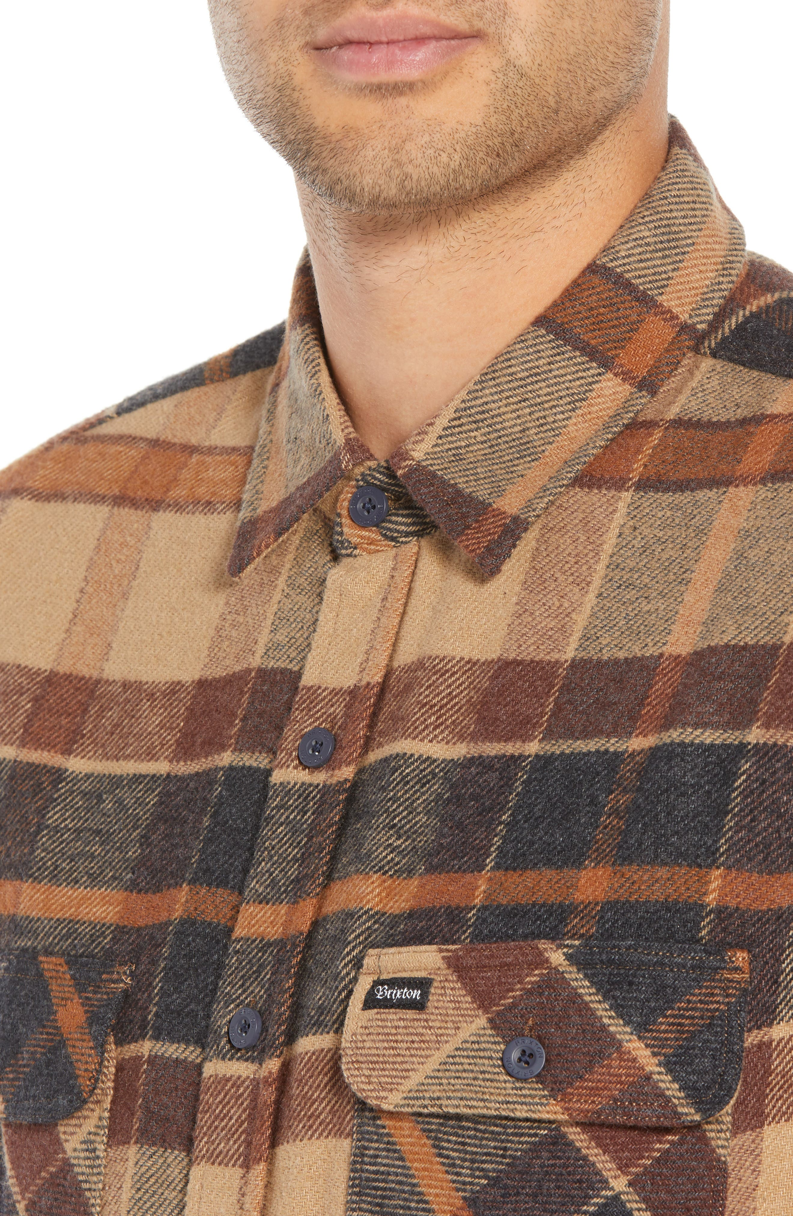 Bowery Flannel Shirt,                             Alternate thumbnail 18, color,