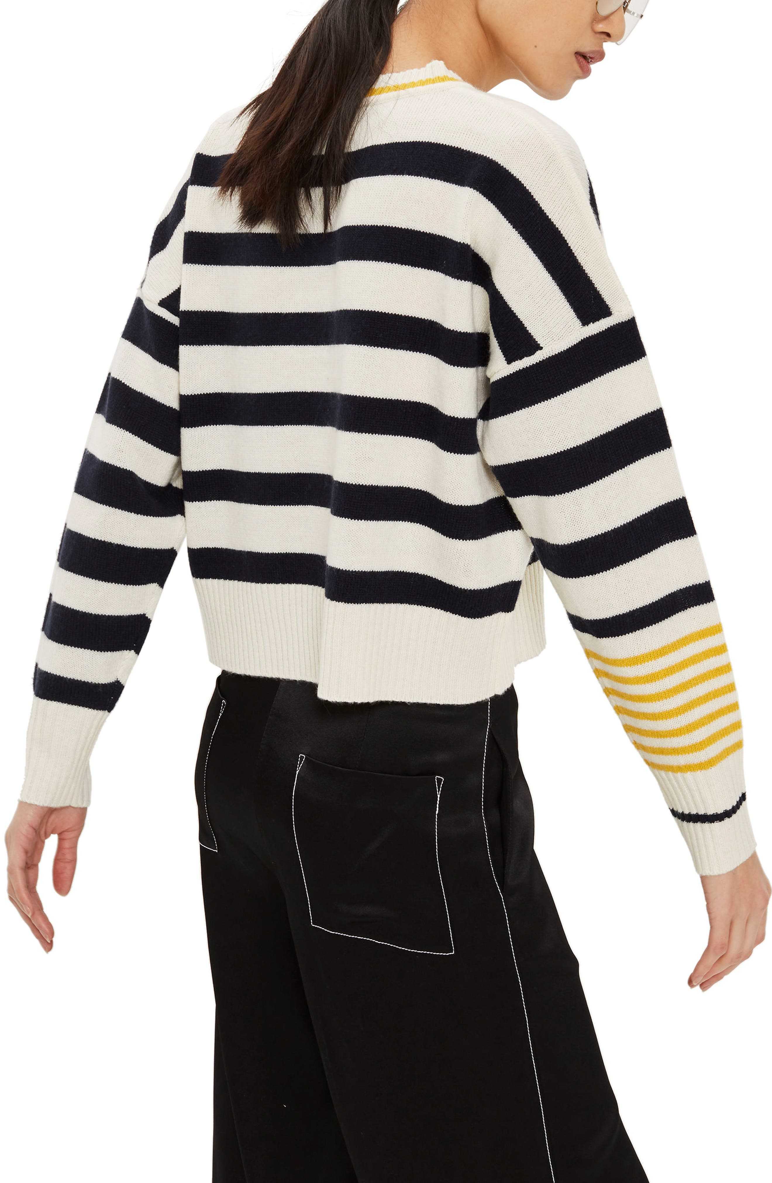 Slouchy Stripe Sweater,                             Alternate thumbnail 2, color,