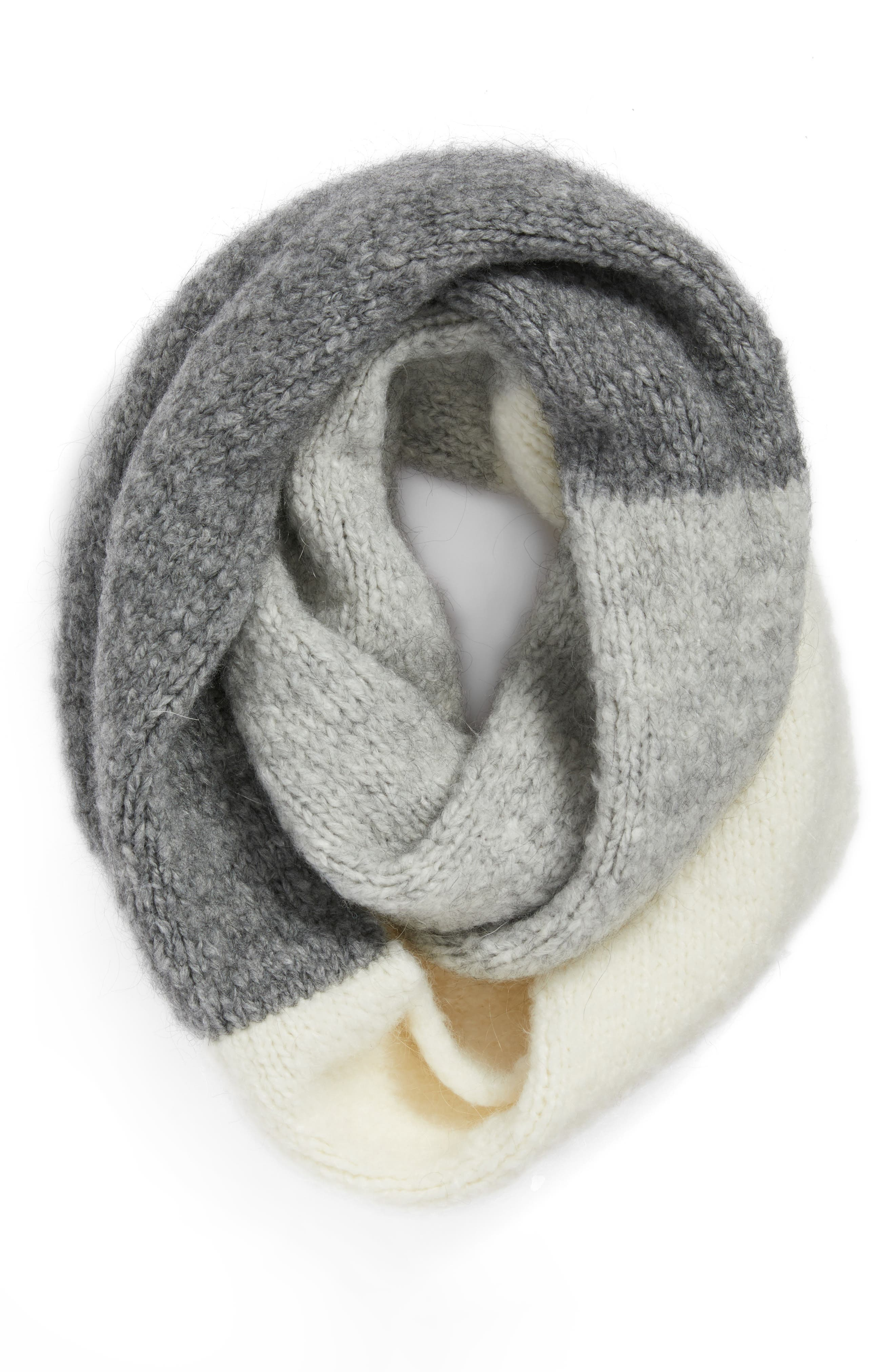 Lofty Tricolor Infinity Scarf,                             Alternate thumbnail 3, color,