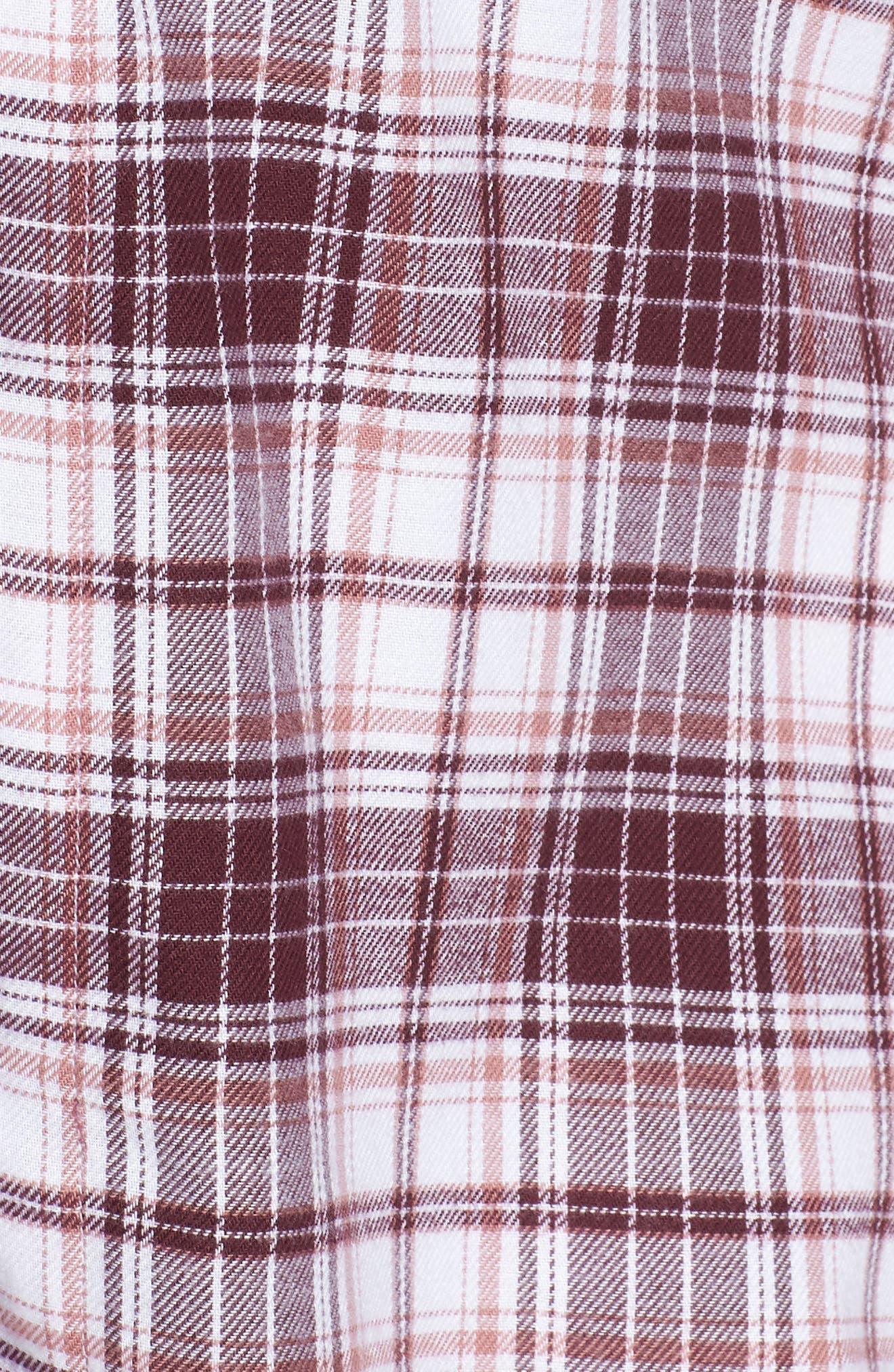 Raven Plaid Pajamas,                             Alternate thumbnail 5, color,                             PORT PLAID