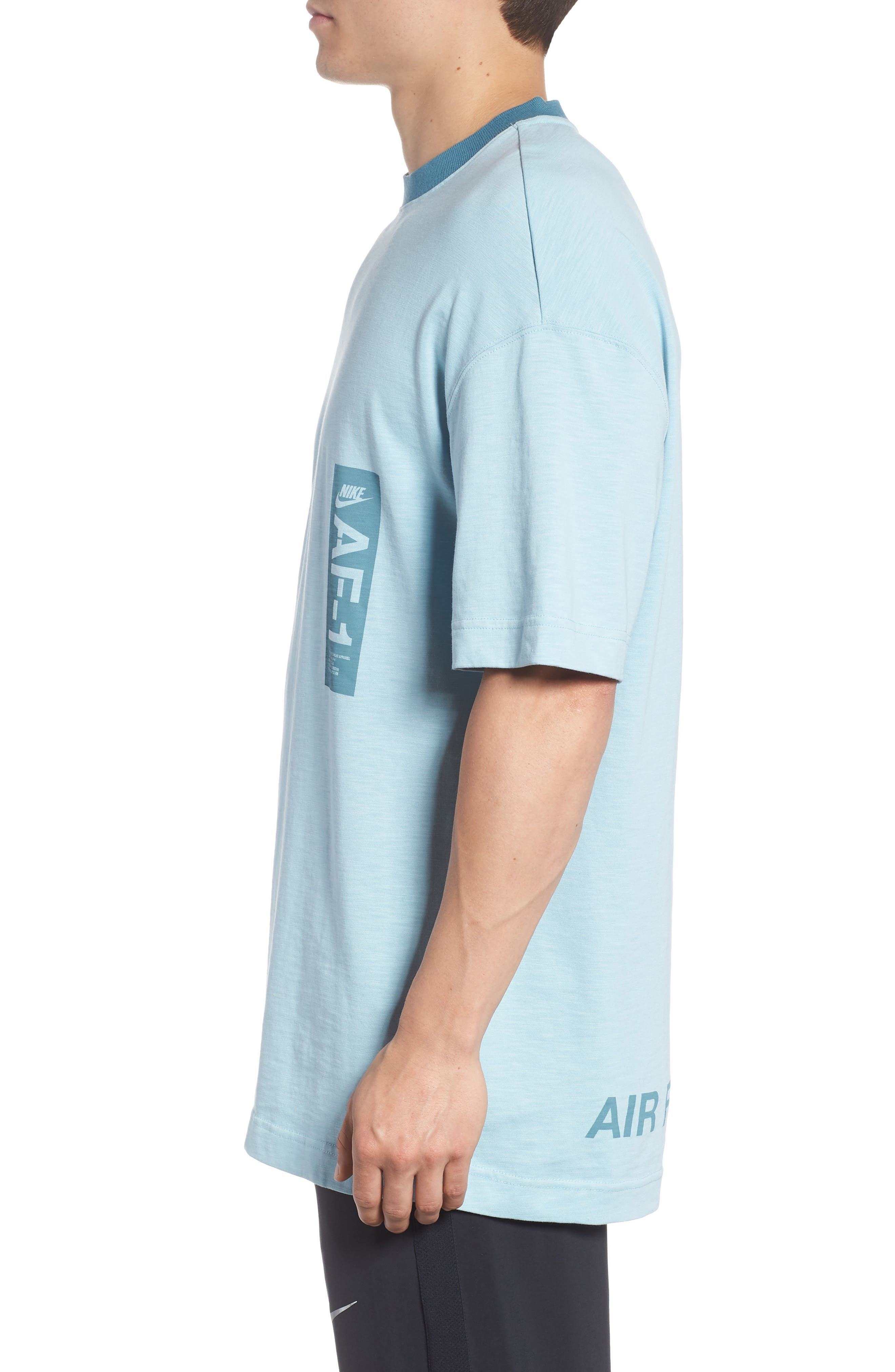 Sportswear AF1 Graphic T-Shirt,                             Alternate thumbnail 3, color,                             OCEAN BLISS/ NOISE AQUA
