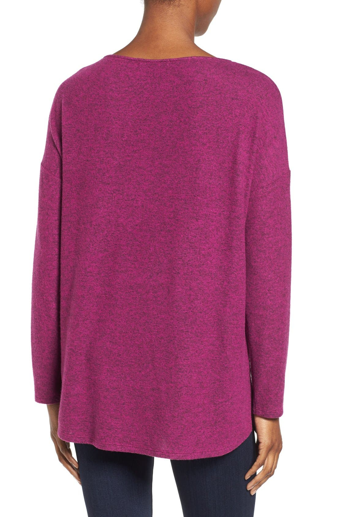 Cozy Ballet Neck High/Low Pullover,                             Alternate thumbnail 98, color,