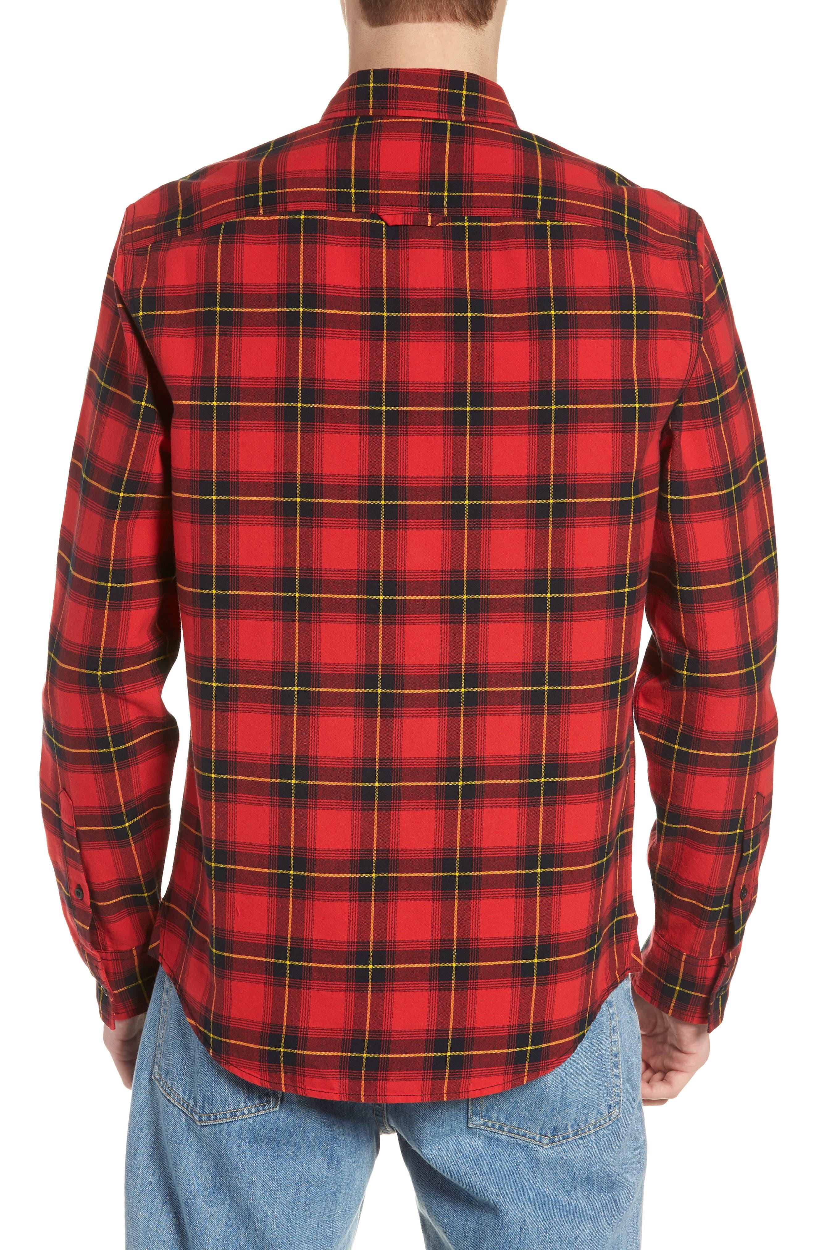 Plaid Oversize Pocket Sport Shirt,                             Alternate thumbnail 2, color,                             610