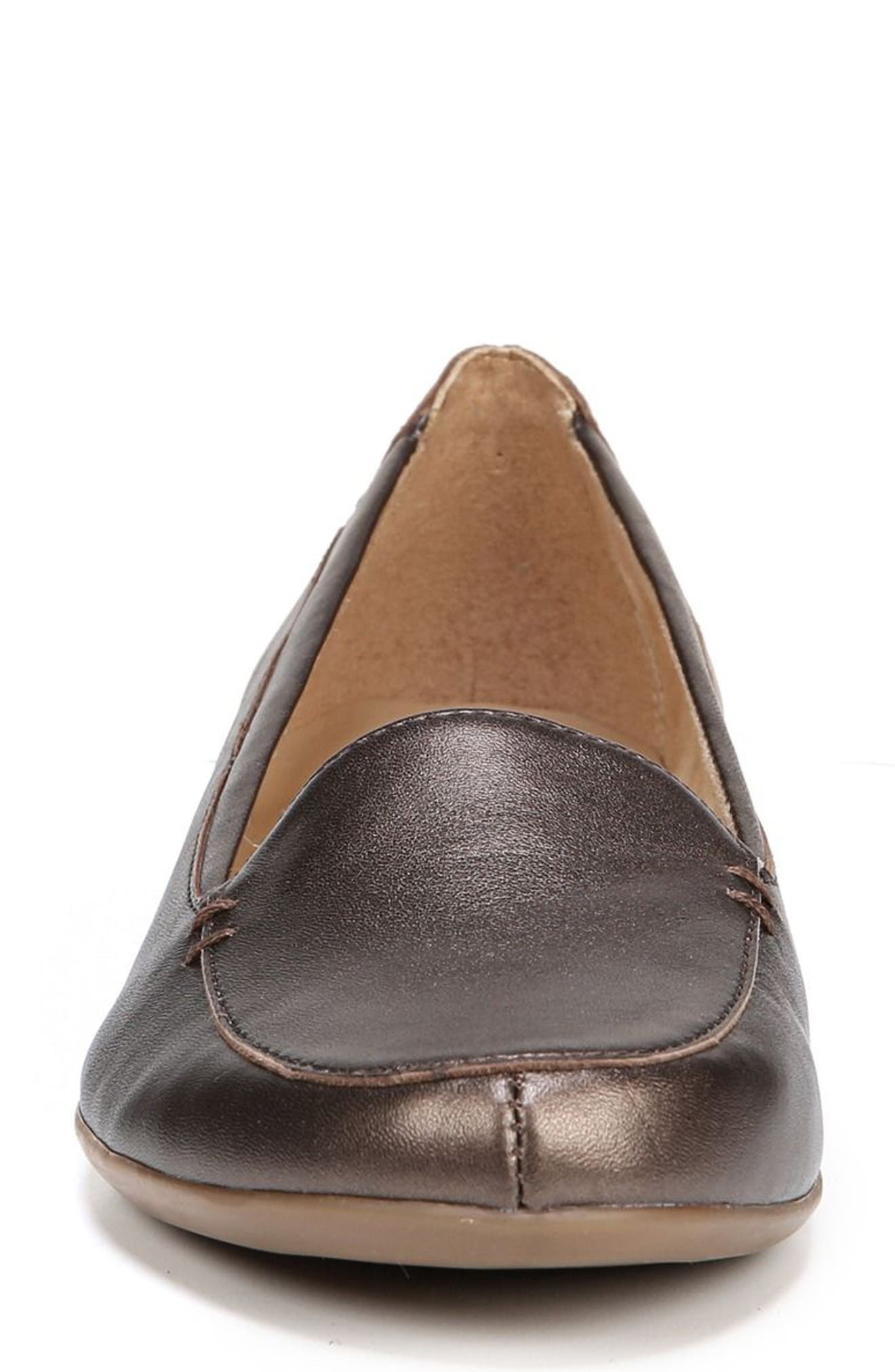 'Saban' Leather Loafer,                             Alternate thumbnail 4, color,                             BROWN BRONZE LEATHER