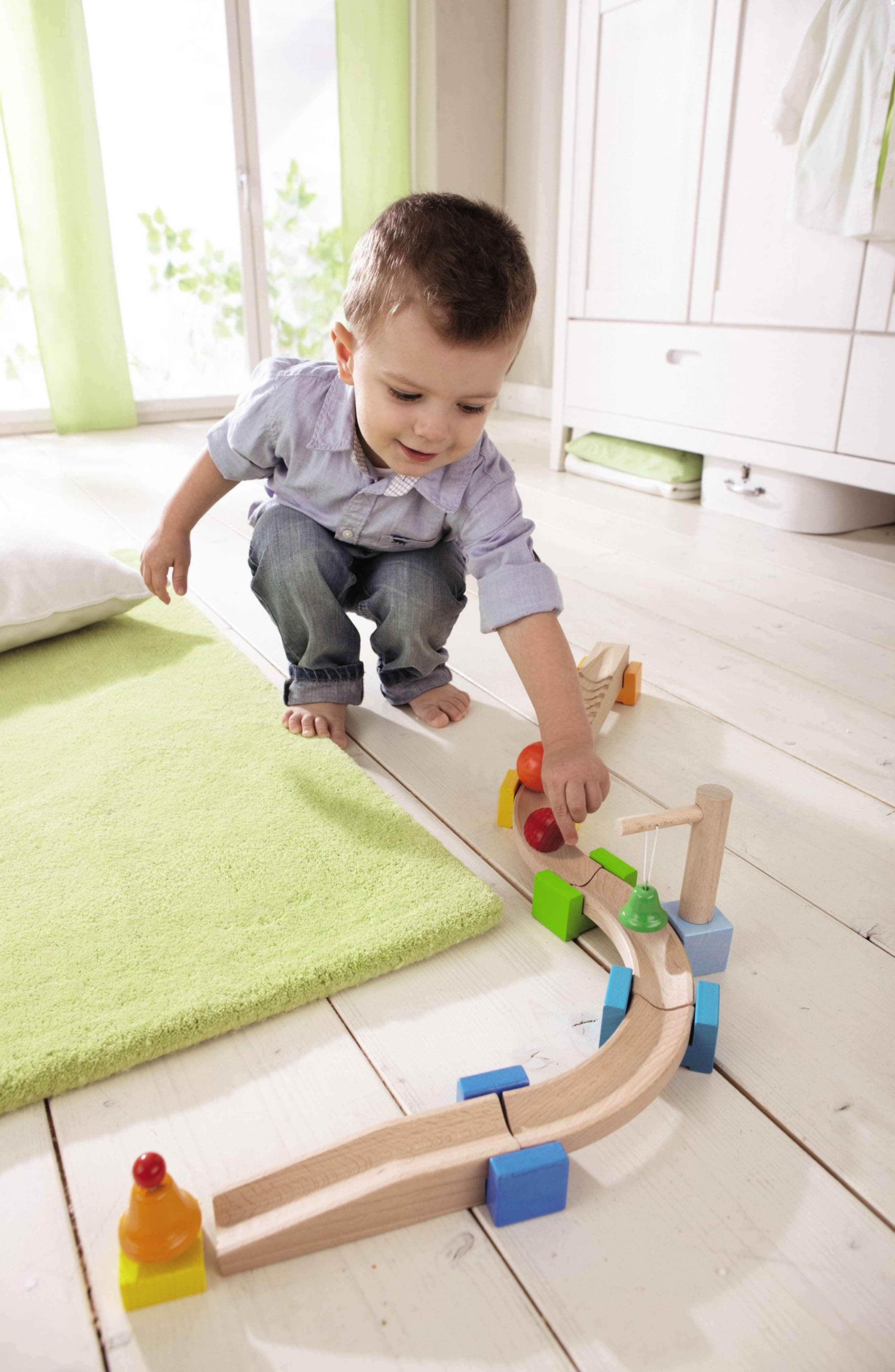 My First Ball Track - 14-Piece Basic Pack Chatter Track Play Set,                             Alternate thumbnail 2, color,