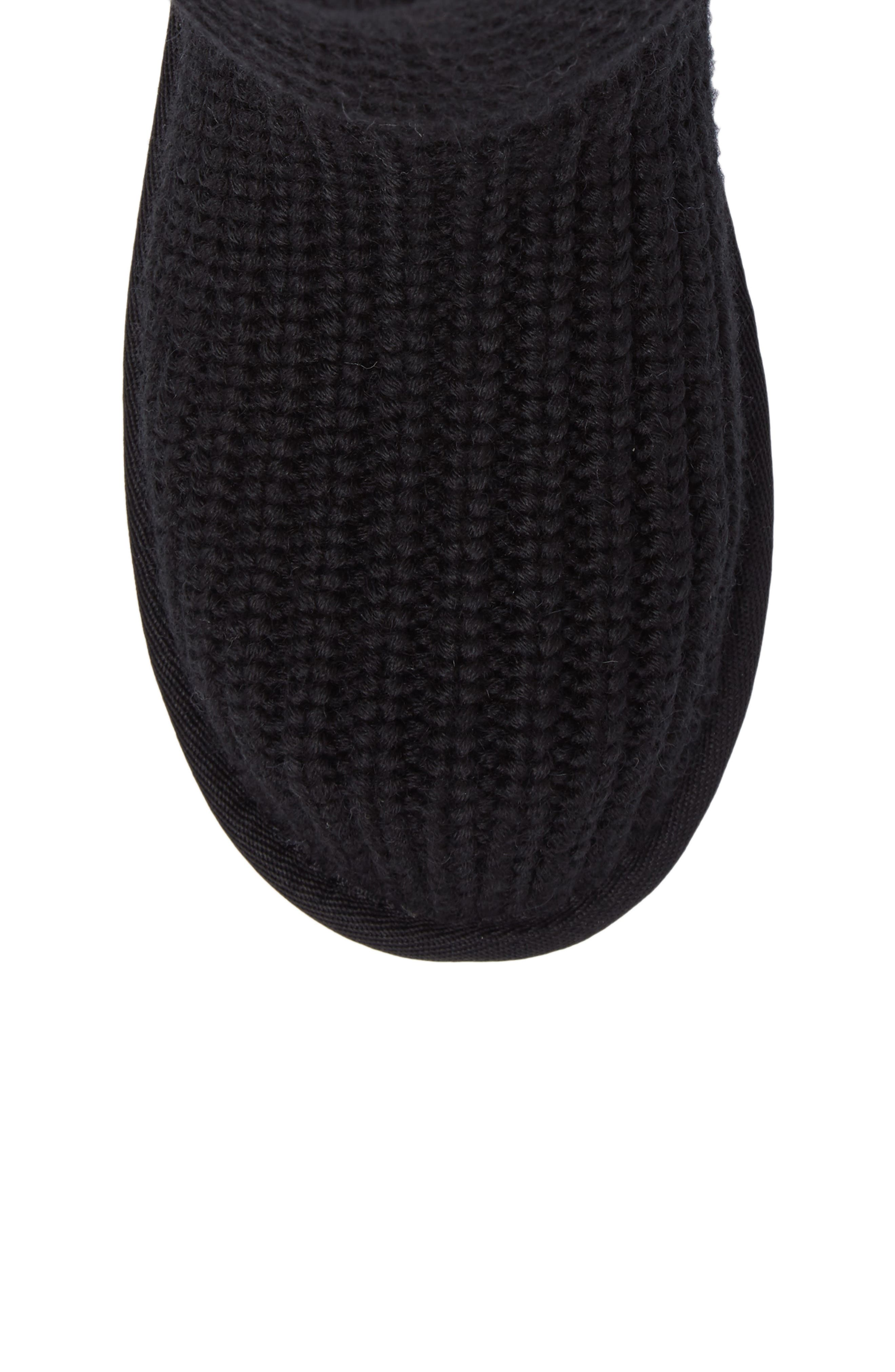 Cardy II Cableknit Boot,                             Alternate thumbnail 5, color,                             BLACK