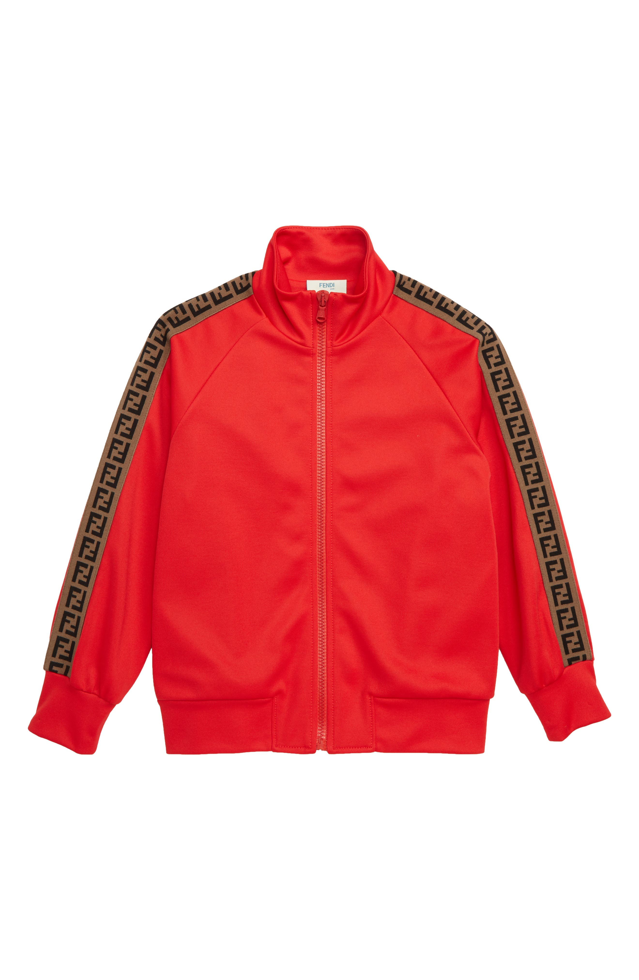 Double-F Logo Track Jacket, Main, color, F0QC9 RED