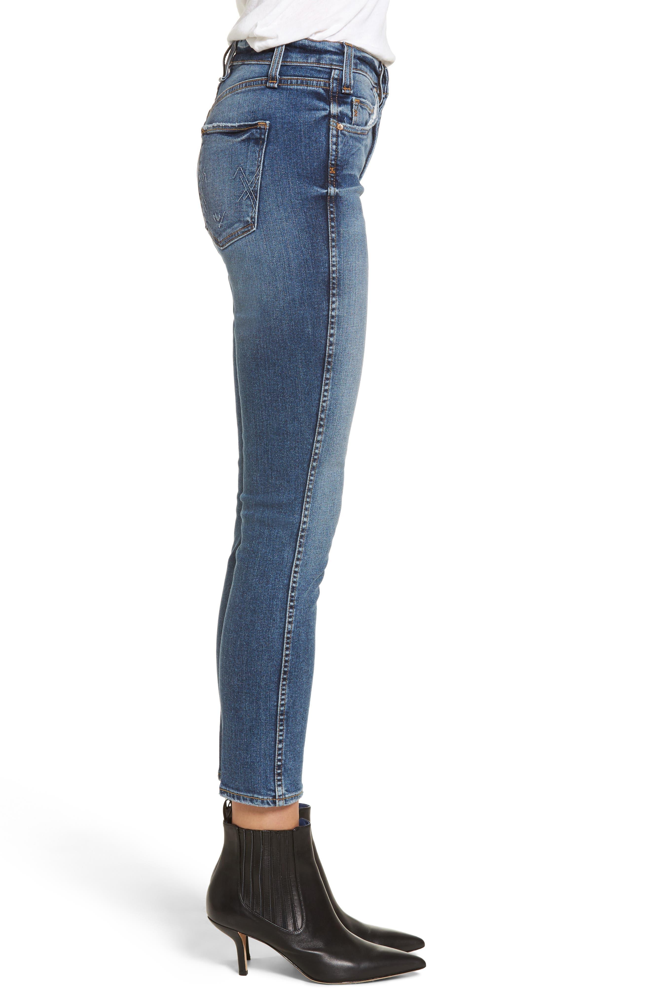 Windsor Destroyed High Waist Straight Leg Jeans,                             Alternate thumbnail 5, color,