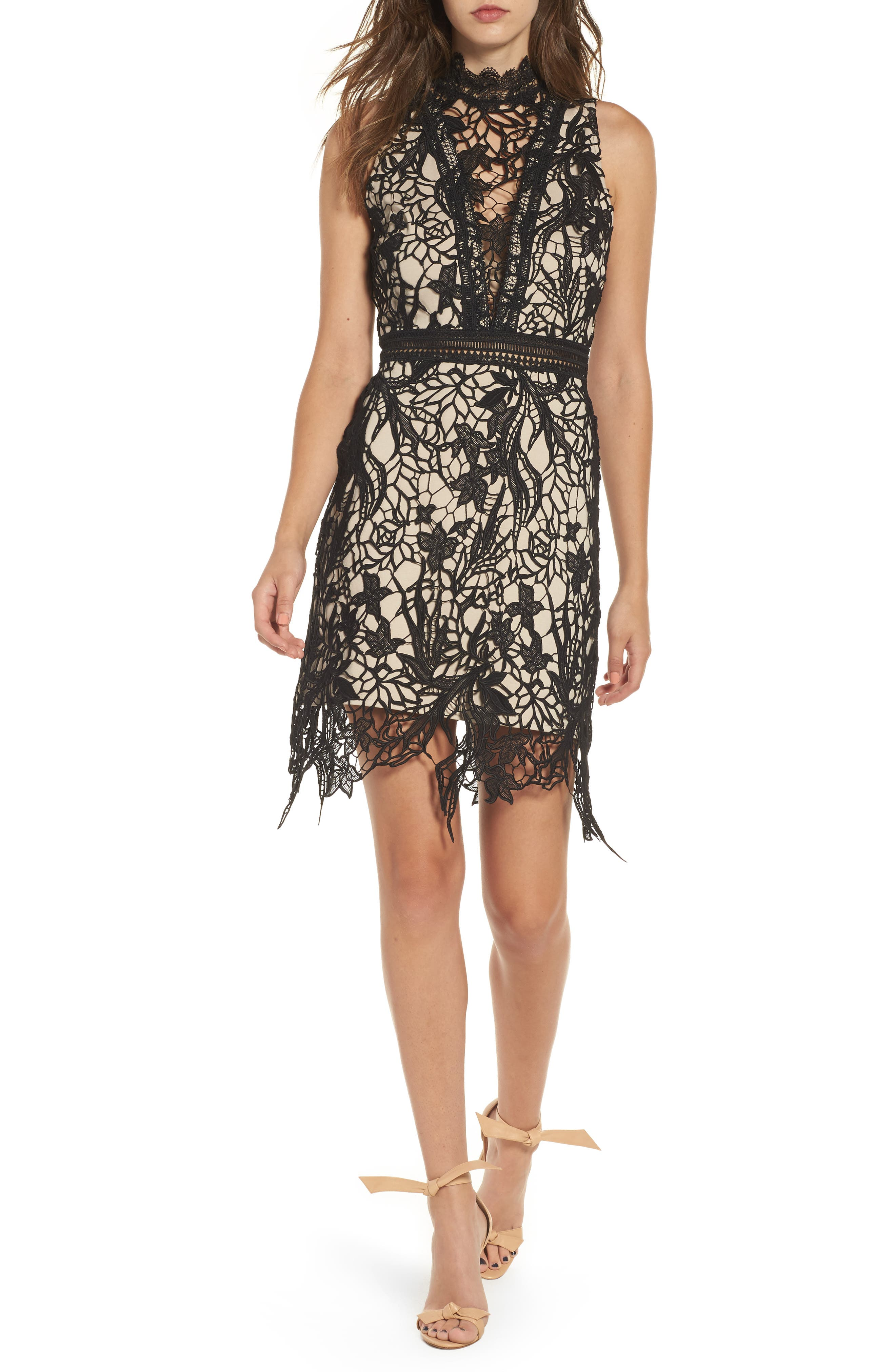 Felicity Sheath Dress,                             Alternate thumbnail 5, color,                             001