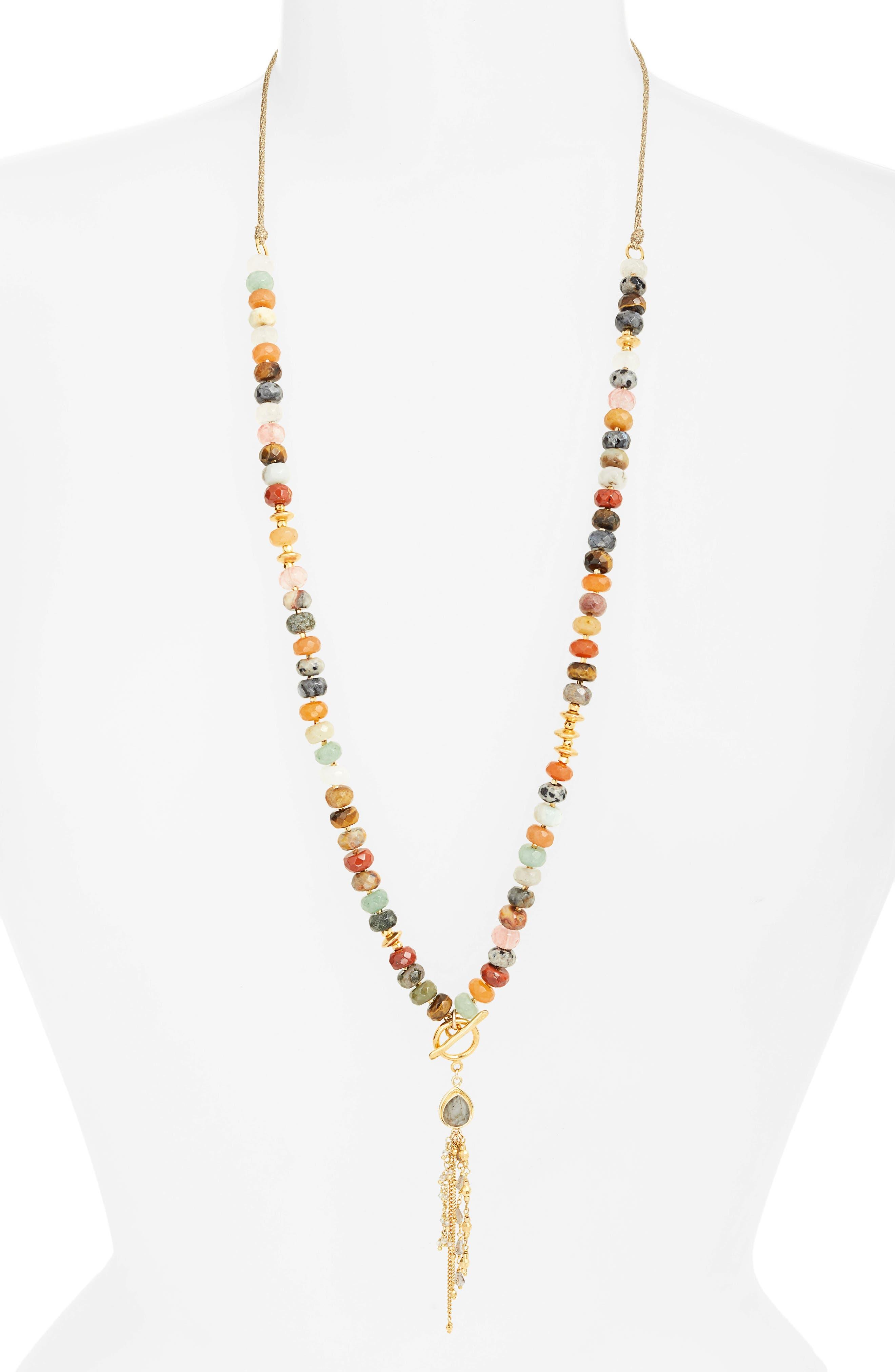 Adjustable Tassel Necklace,                             Main thumbnail 1, color,                             200
