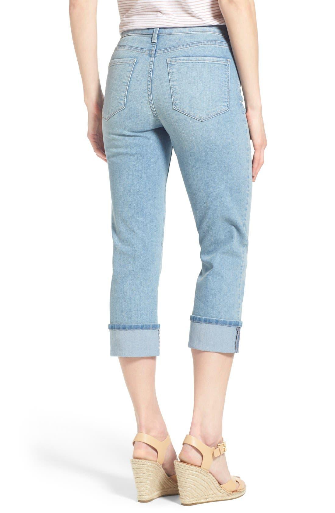 'Dayla' Colored Wide Cuff Capri Jeans,                             Alternate thumbnail 40, color,