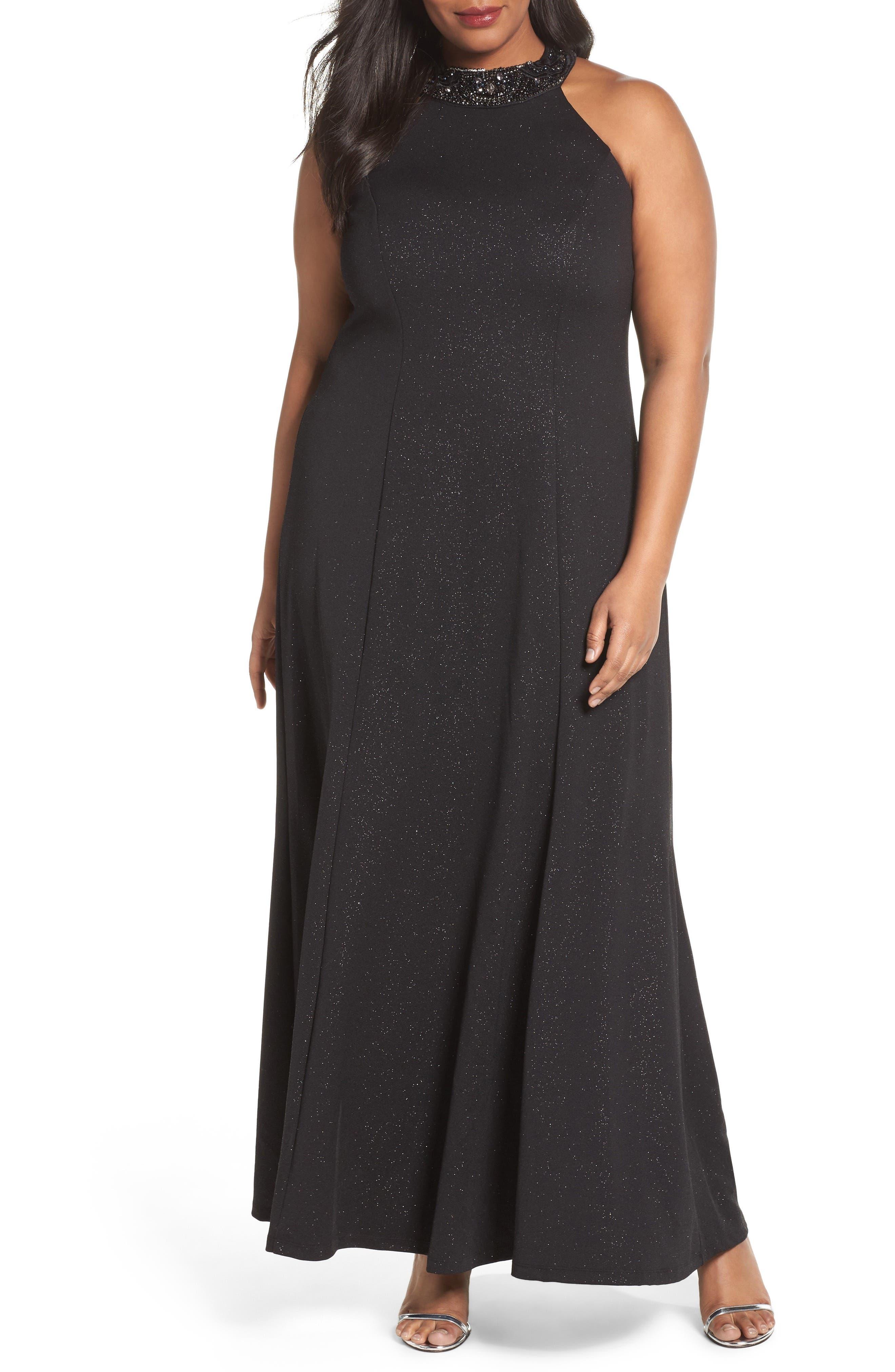 Embellished Halter Gown,                         Main,                         color,
