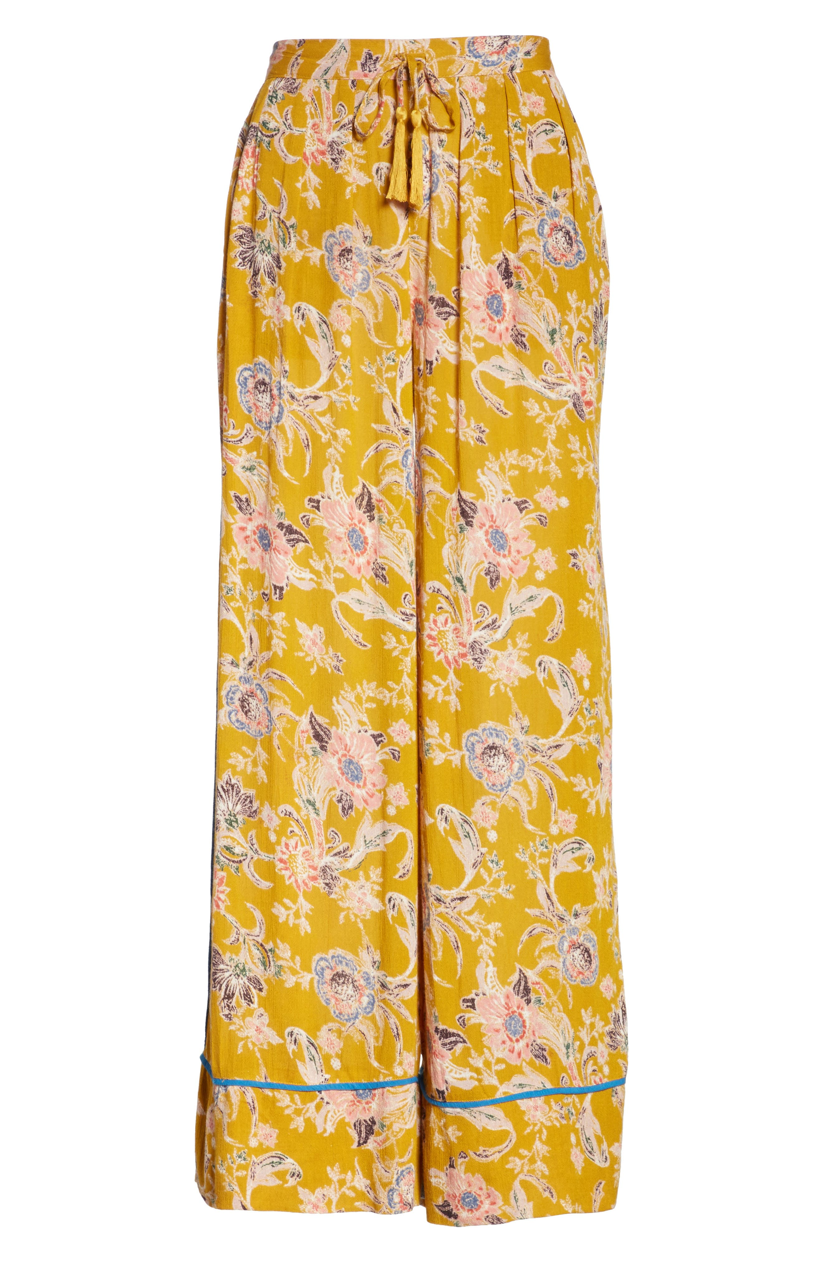 Bali Wildflower Wide Leg Pants,                             Alternate thumbnail 12, color,