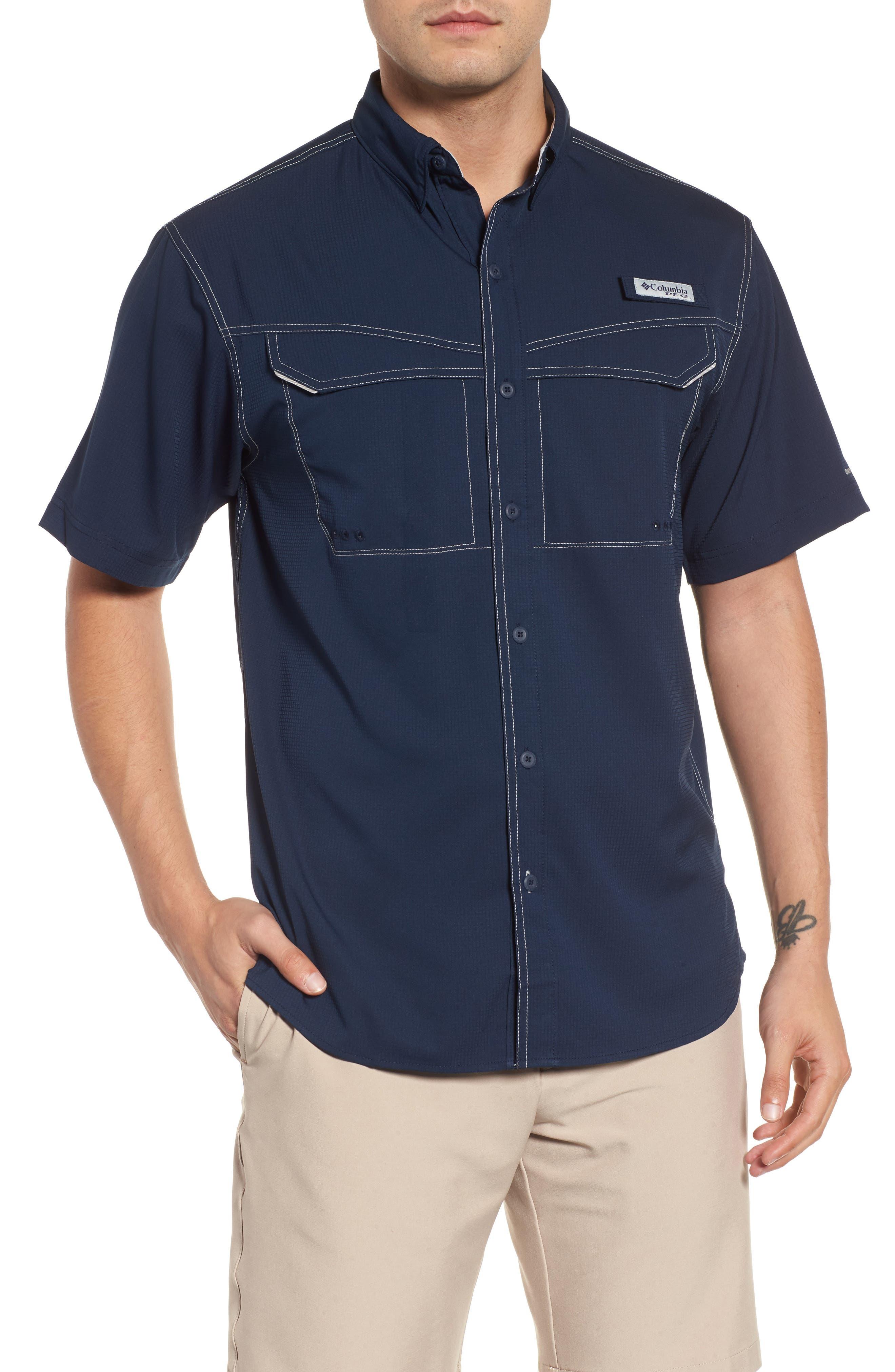 PFG Low Drag Offshore Woven Shirt,                             Main thumbnail 2, color,