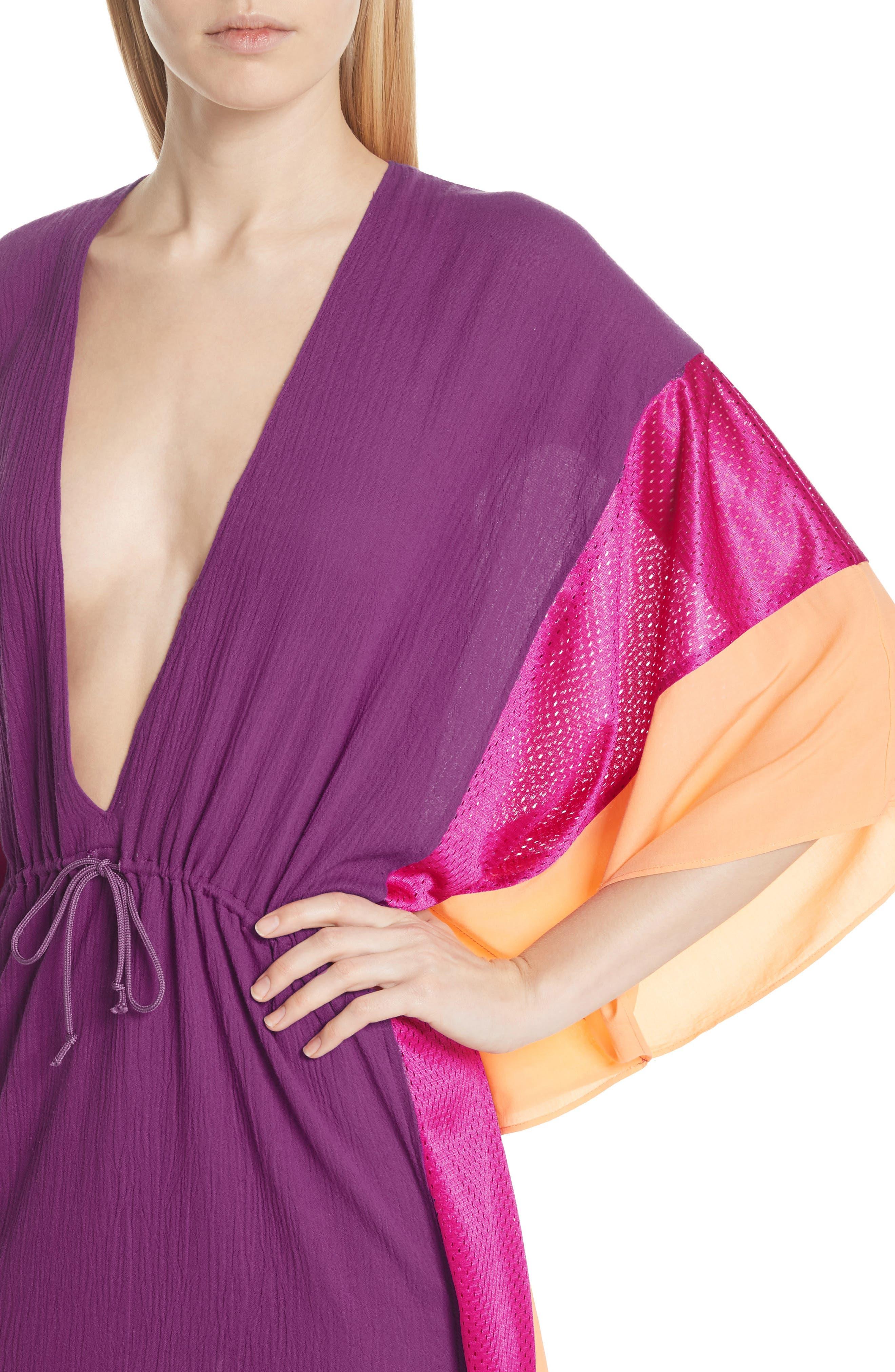 Sun Dance Caftan Dress,                             Alternate thumbnail 4, color,                             650