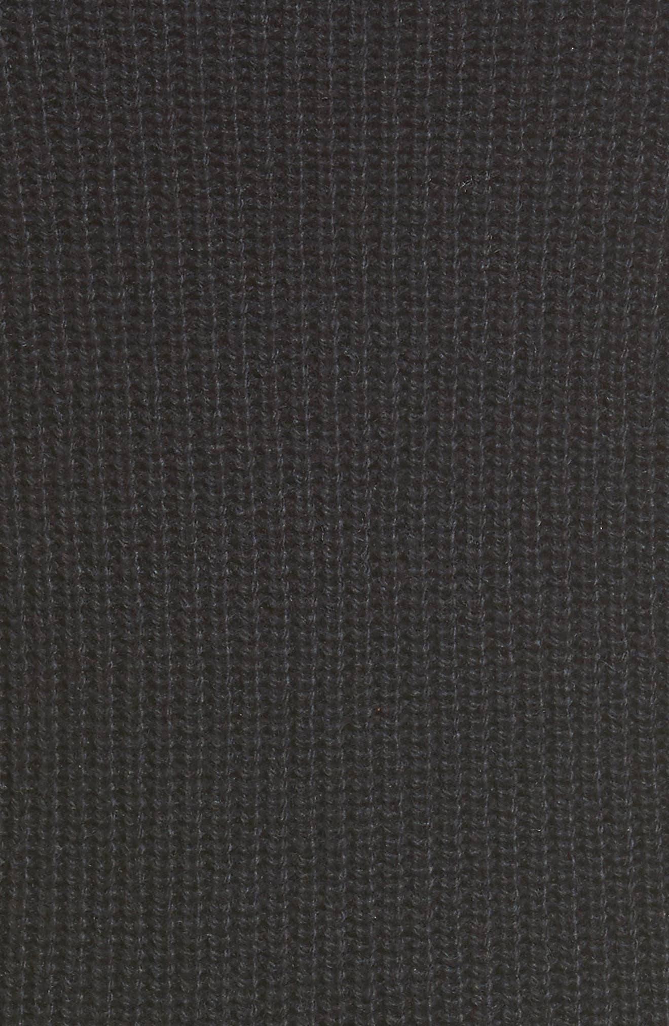 BP Cutout Choker Sweater Dress,                             Alternate thumbnail 5, color,                             001