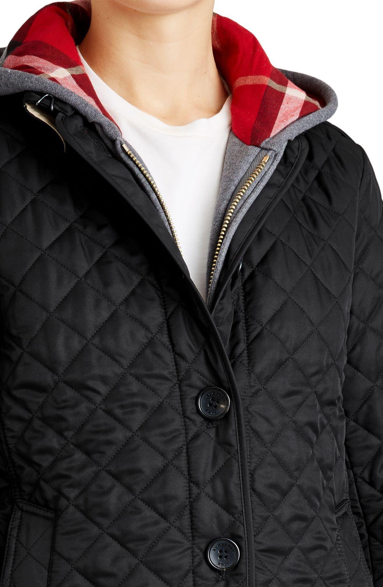 Ashurst Quilted Jacket,                             Alternate thumbnail 4, color,                             BLACK