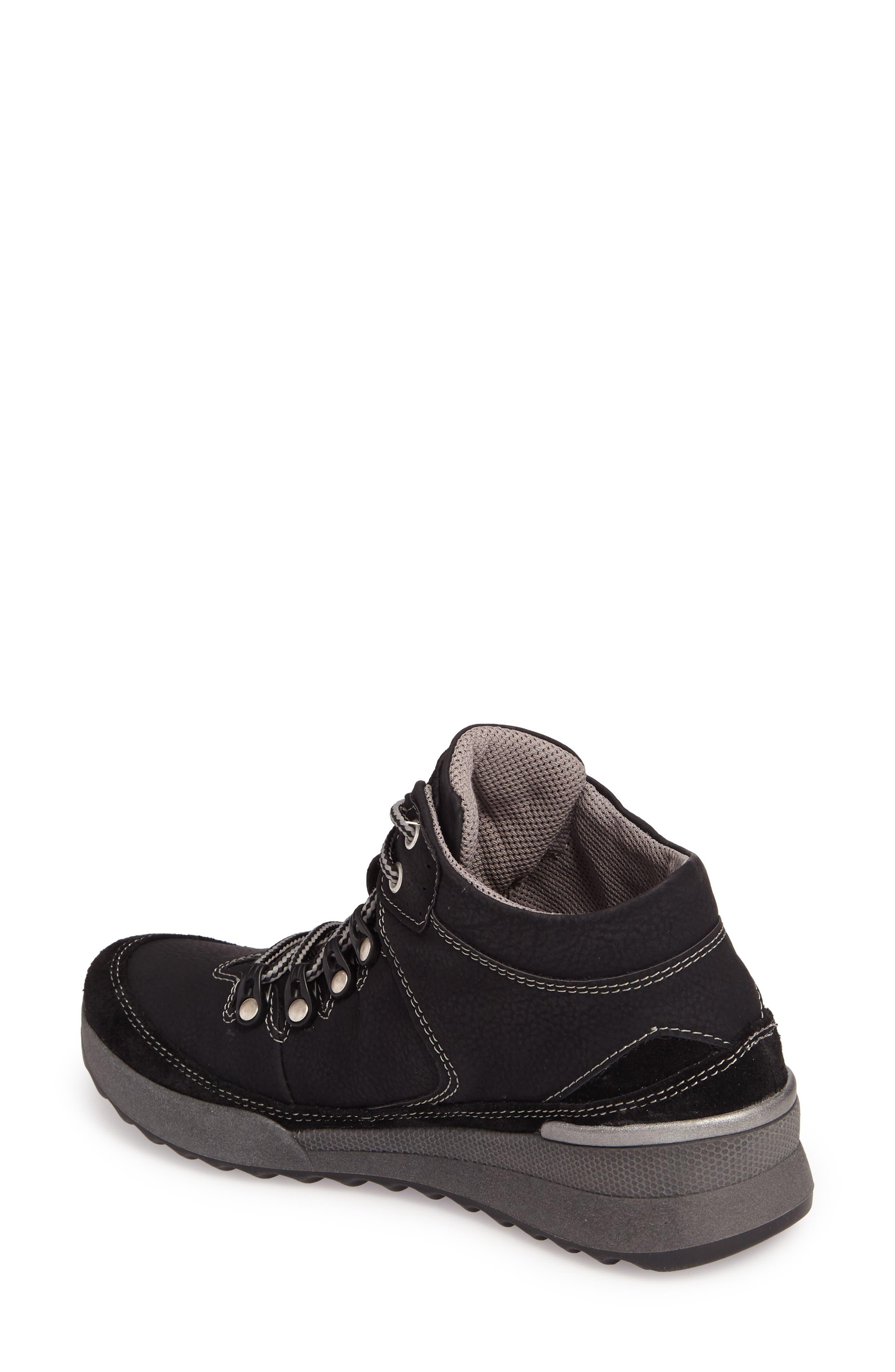 Victoria 05 Waterproof Sneaker,                             Alternate thumbnail 2, color,                             BLACK/ KOMBI LEATHER