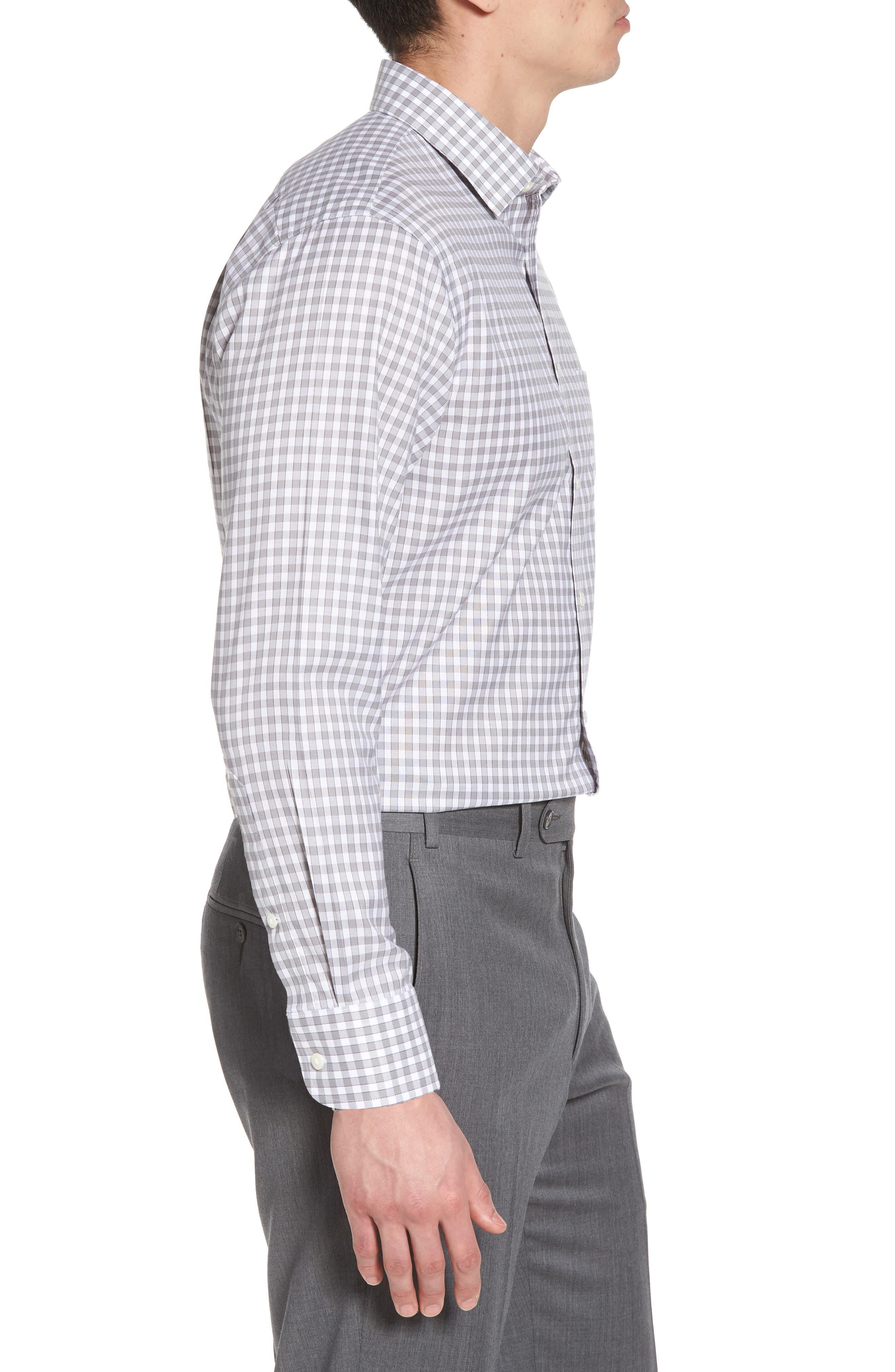 Smartcare<sup>™</sup> Trim Fit Check Dress Shirt,                             Alternate thumbnail 4, color,                             050
