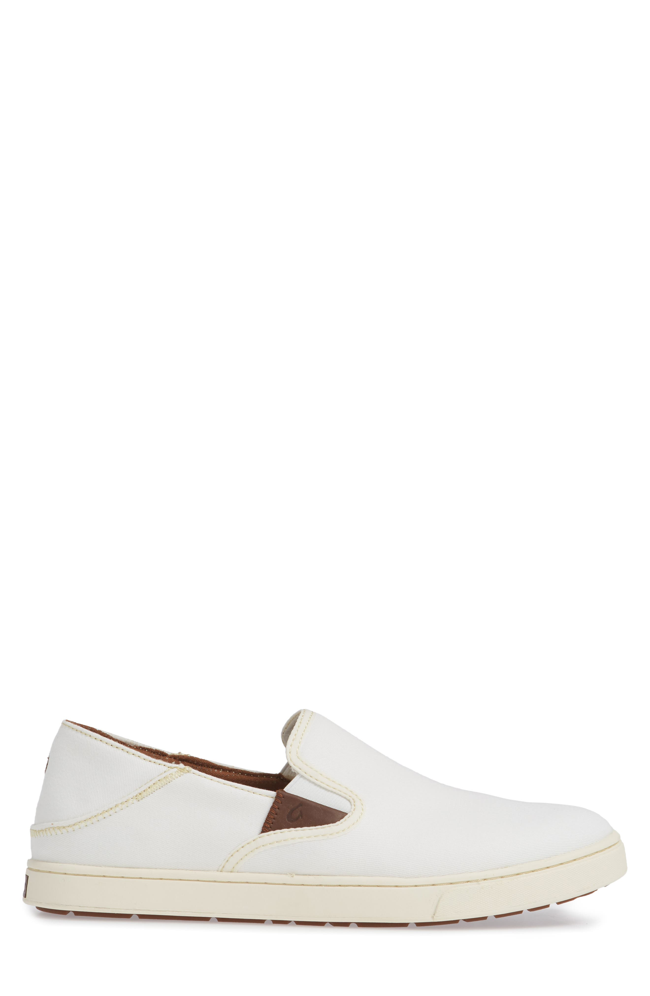 Kahu Collapsible Slip-On Sneaker,                             Alternate thumbnail 3, color,                             OFF WHITE/ OFF WHITE TEXTILE