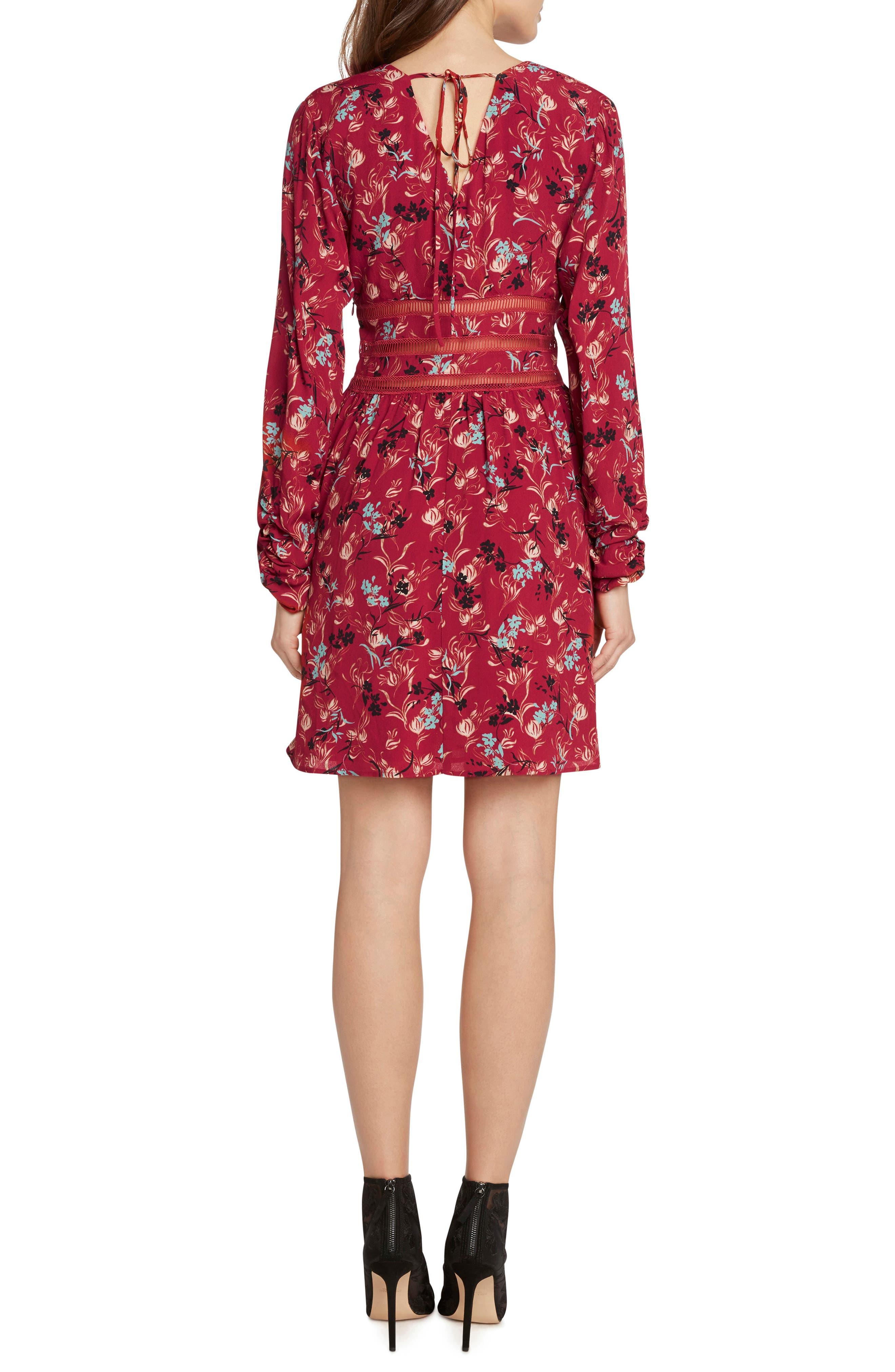 Crochet Detail Faux Wrap Dress,                             Alternate thumbnail 2, color,                             647