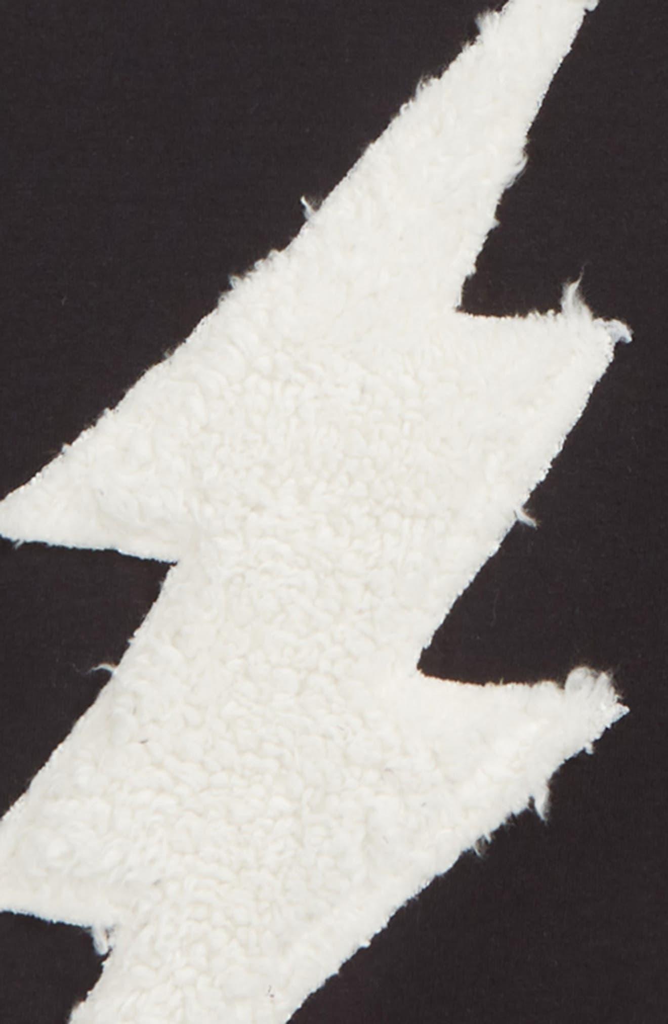 Lightning Appliqué Sweater,                             Alternate thumbnail 2, color,                             BLACK BOLD BOLT