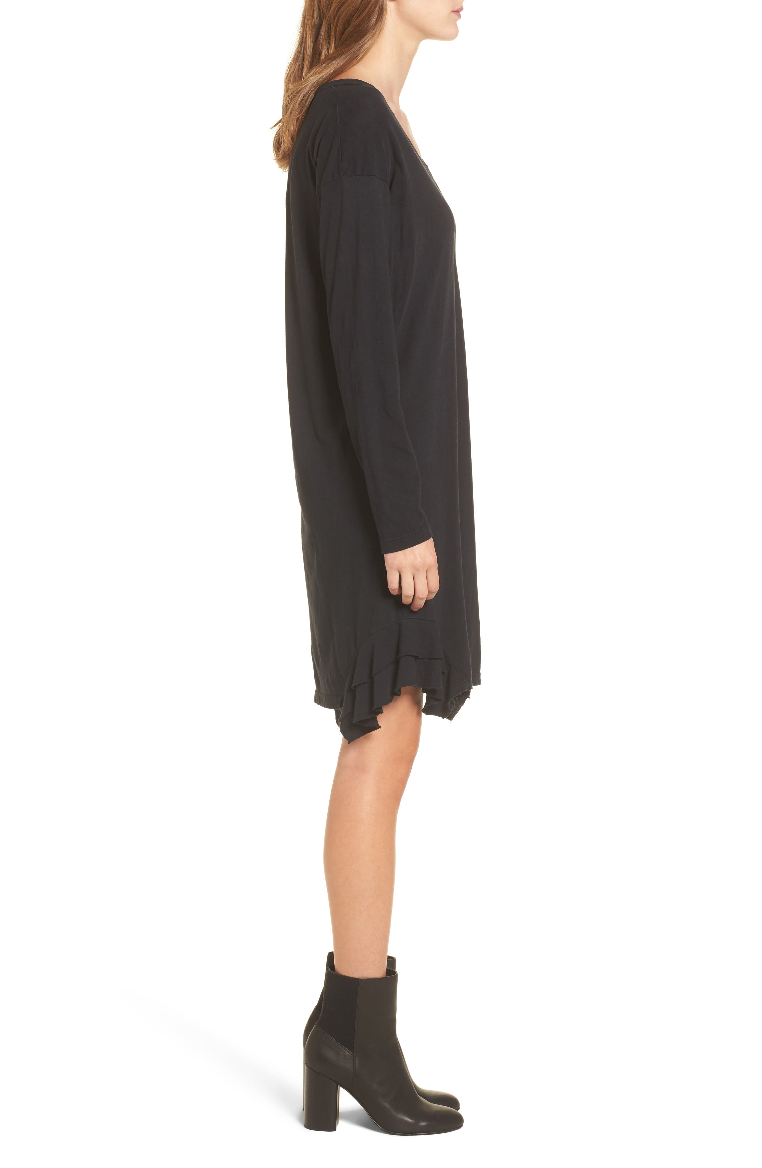 The Tier Long Sleeve Dress,                             Alternate thumbnail 3, color,                             008